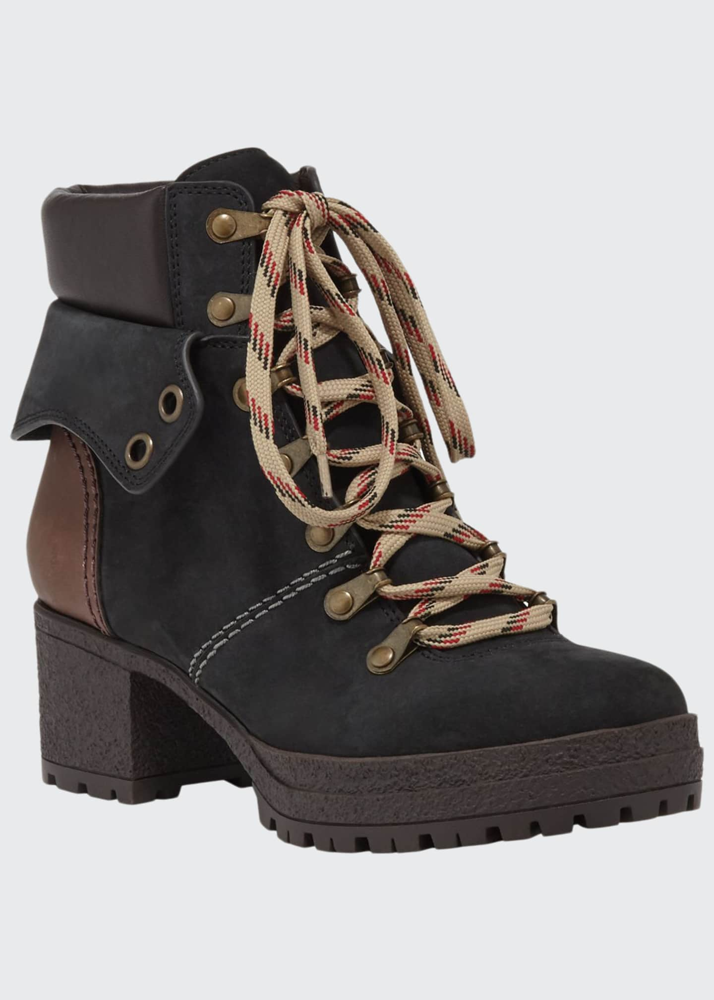 See by Chloe Suede Lace-Up Hiker Boots