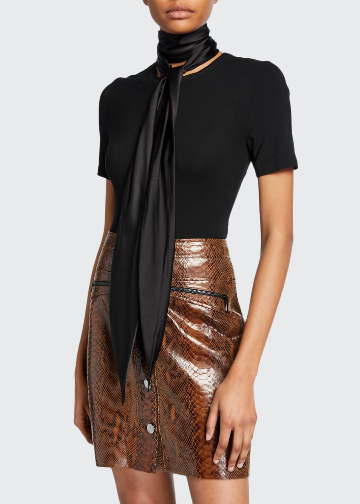 Elie Tahari Elisandra Knit Short-Sleeve Top