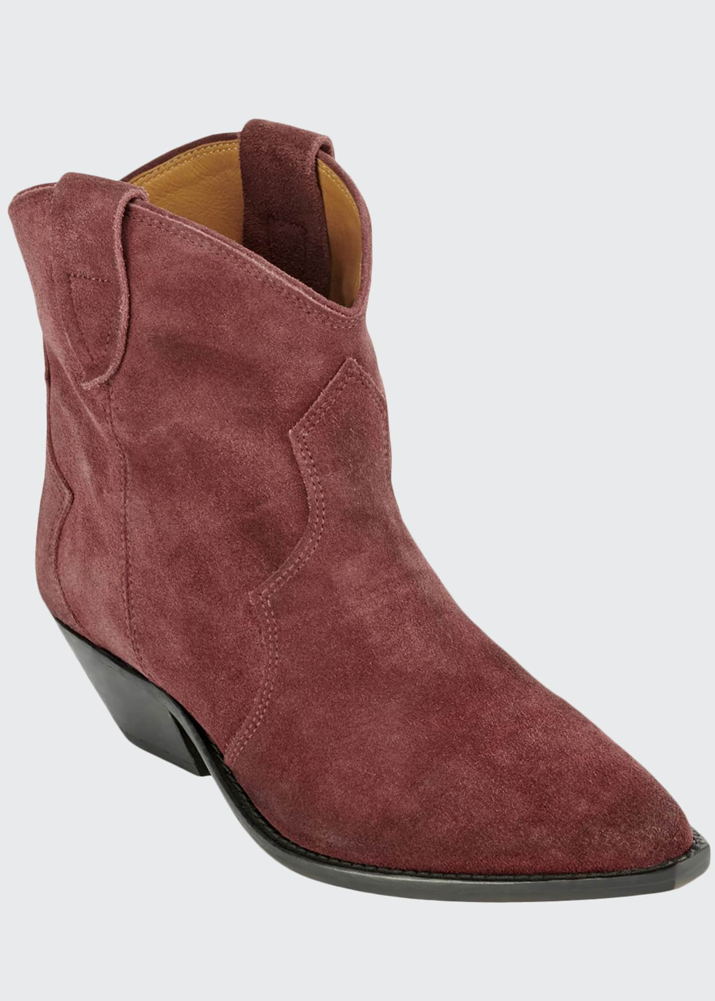 Image 1 of 3: Dewina Suede Pointed Booties