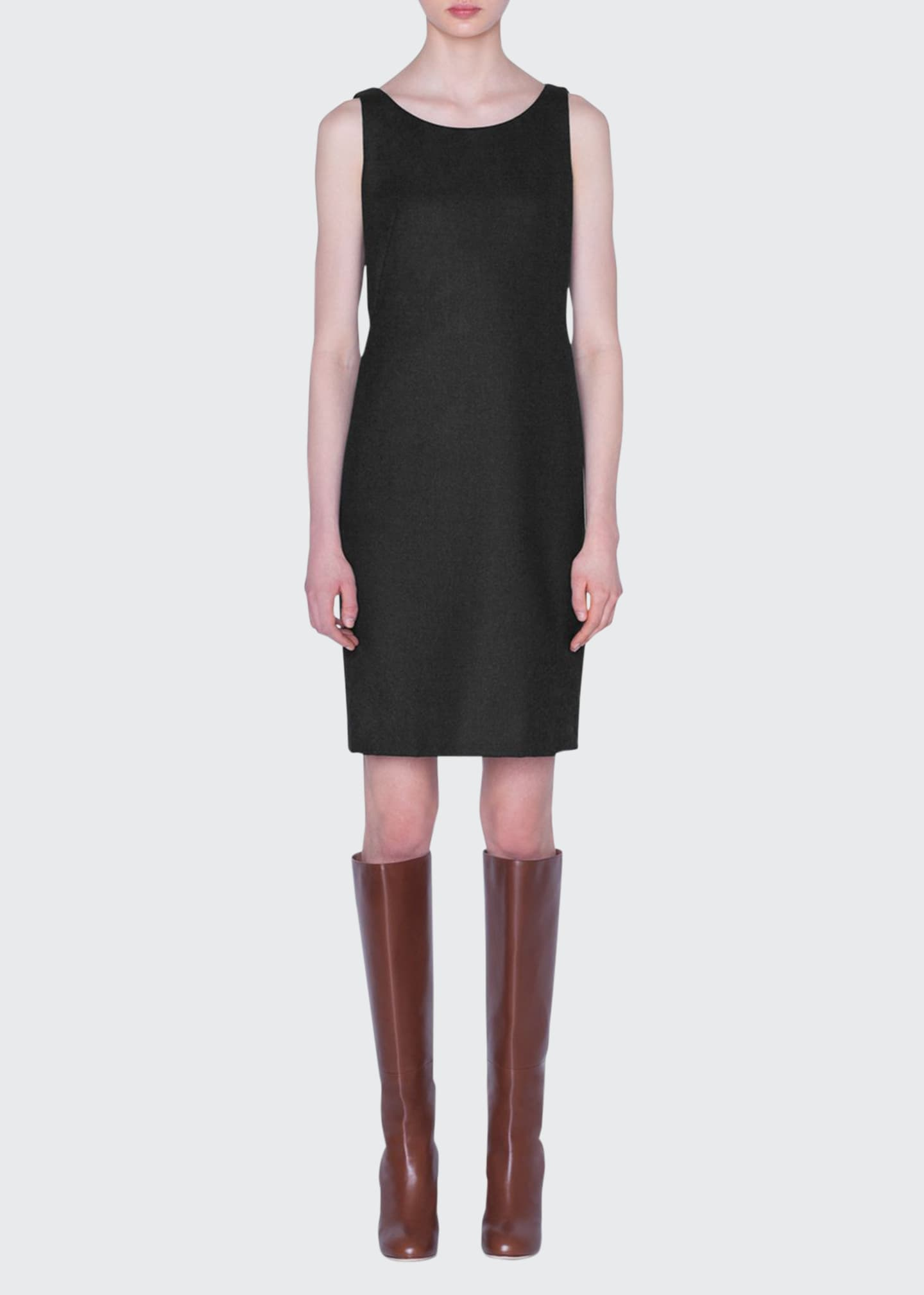 Image 1 of 2: Flannel Sleeveless Sheath Dress