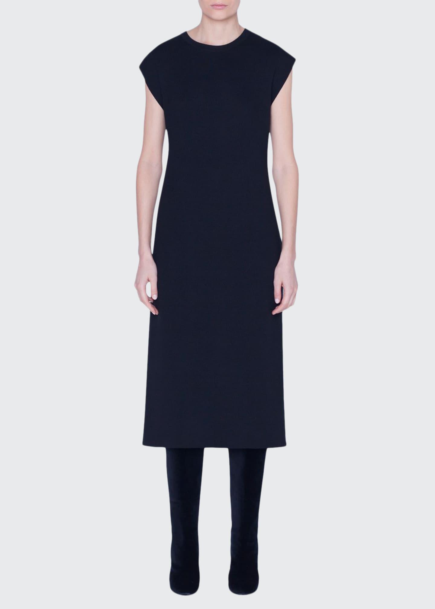 Akris Cashmere-Silk Midi Dress w/ Slit
