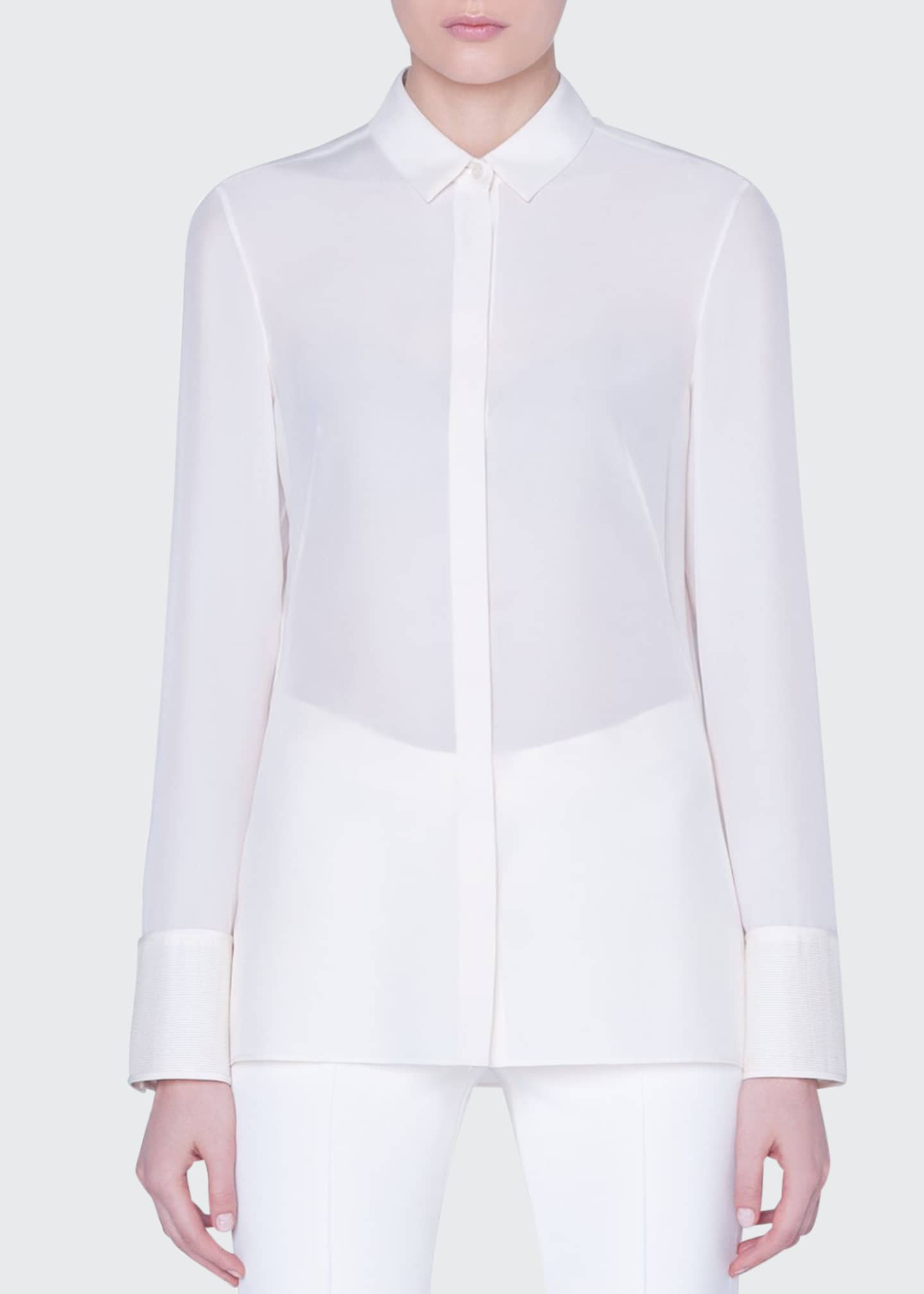 Akris Silk Button-Front Shirt