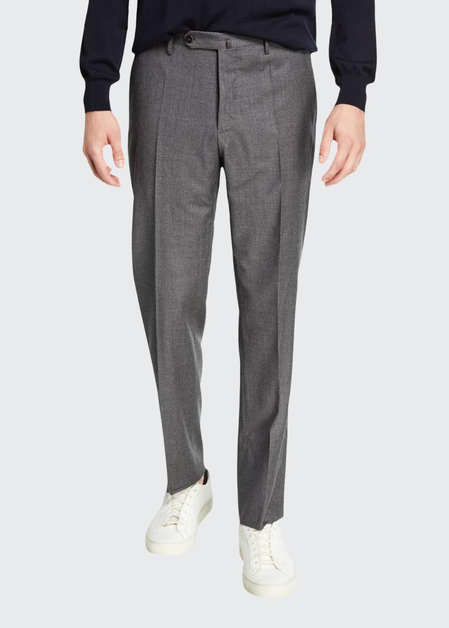Incotex Men's Tropical Wool Standard-Fit Pants