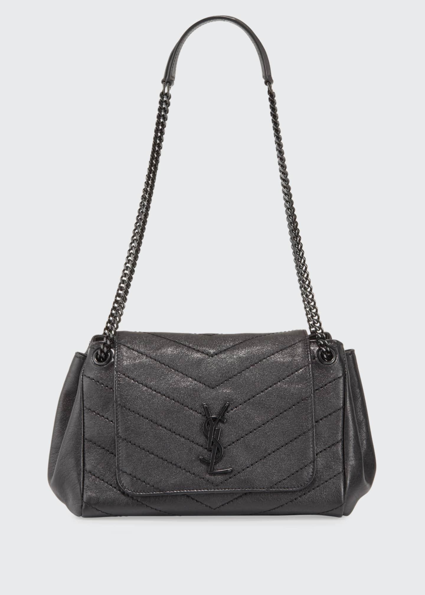 Saint Laurent Nolita Small Chevron Shoulder Bag