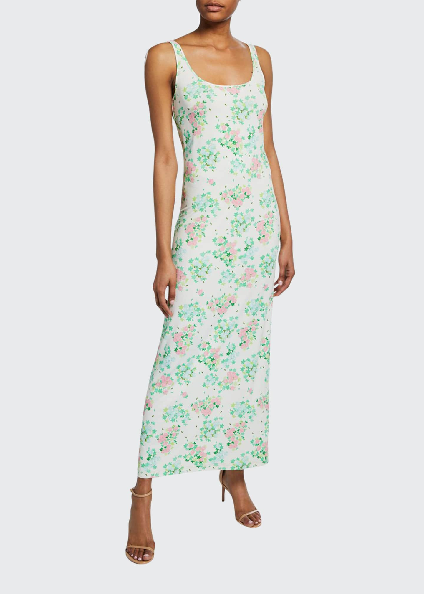 BERNADETTE Monica Sleeveless Floral-Print Midi Dress