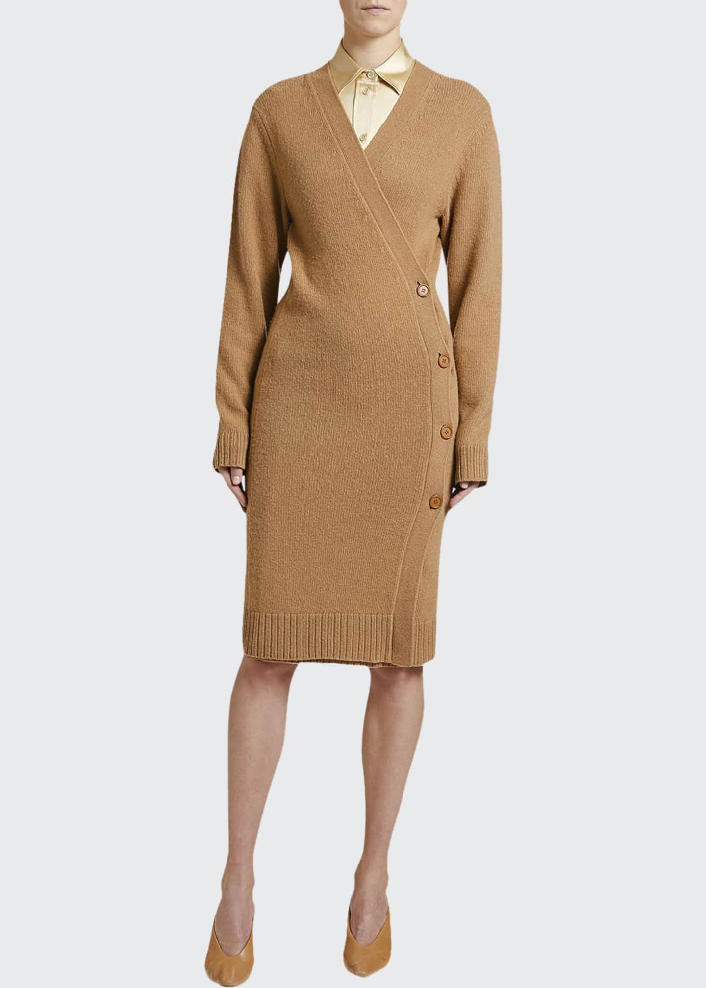 Image 1 of 3: Asymmetric Sweater Dress