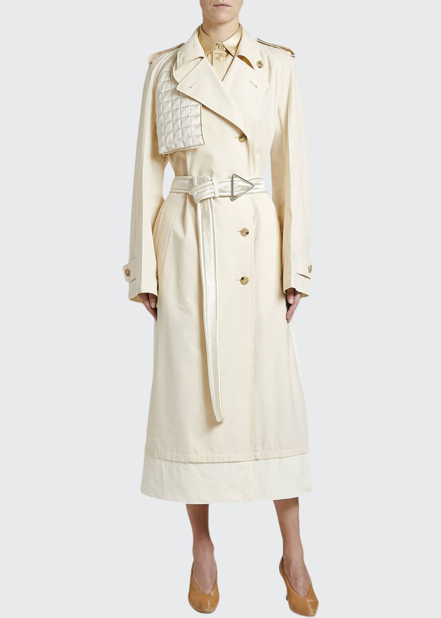Bottega Veneta Double-Breasted Asymmetric Trench Coat