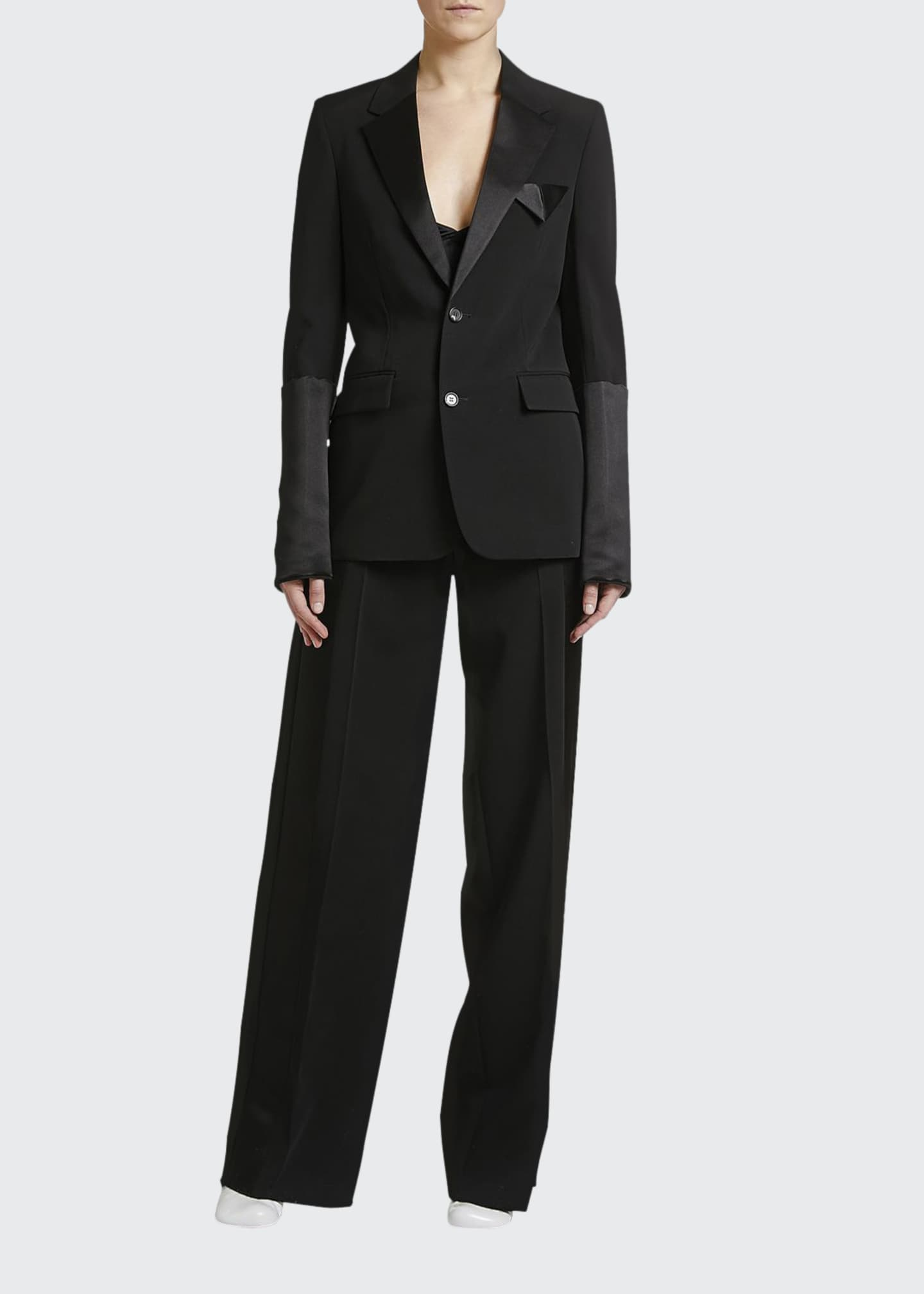 Image 1 of 2: Elastic-Waist Tux Jacket