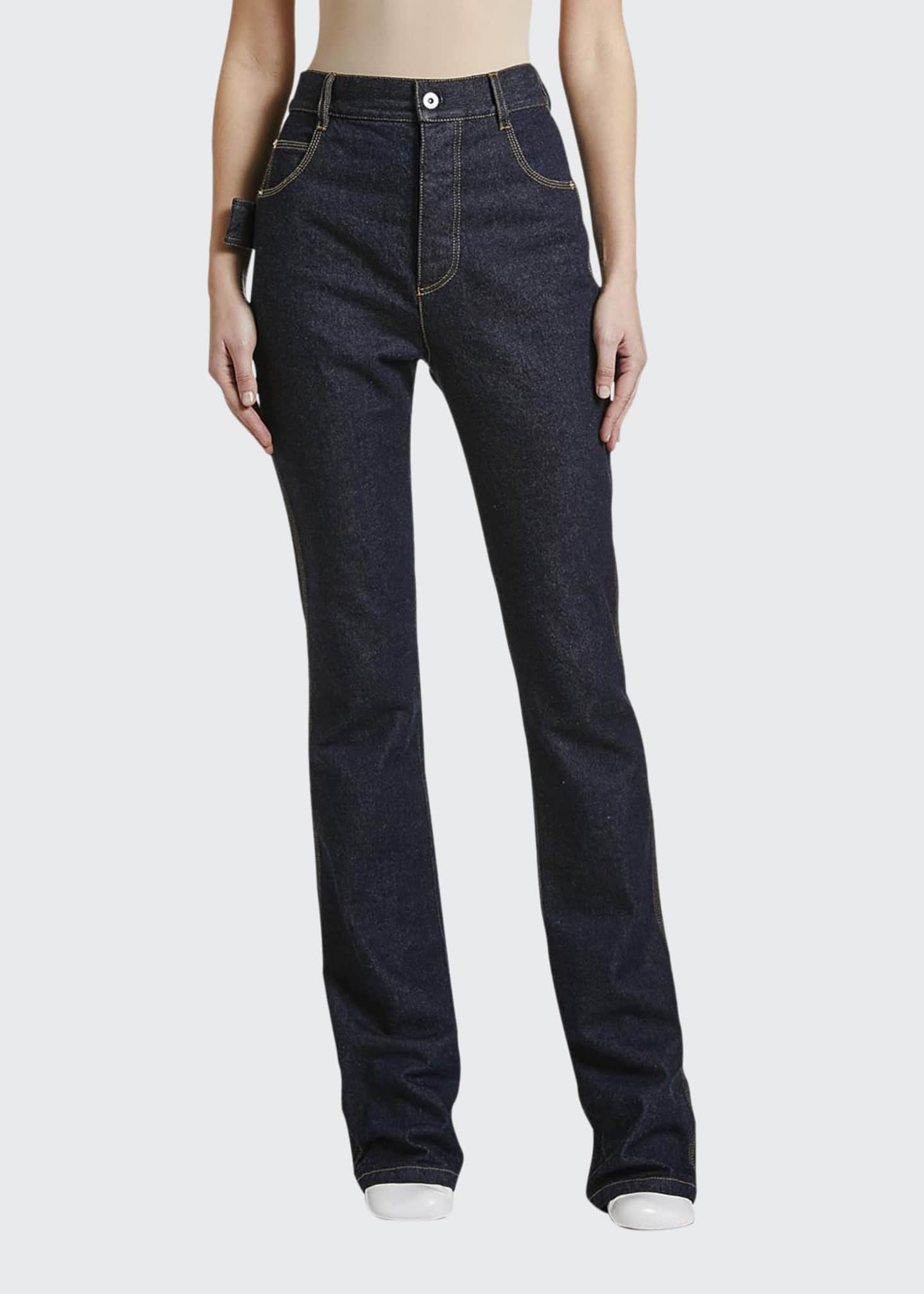 Image 1 of 2: Mid-Rise Wide-Leg Jeans