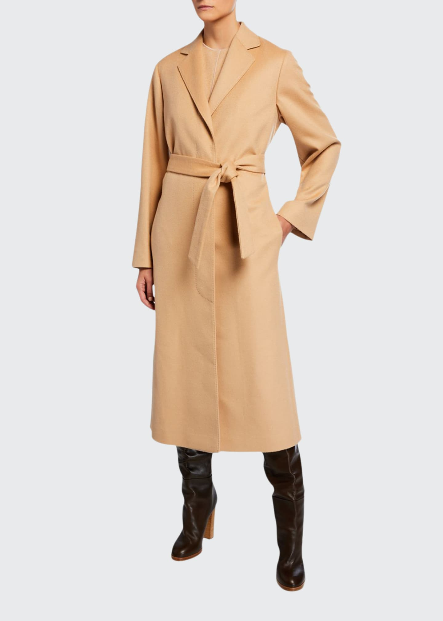 Image 1 of 3: Cashmere Wrap Robe Coat