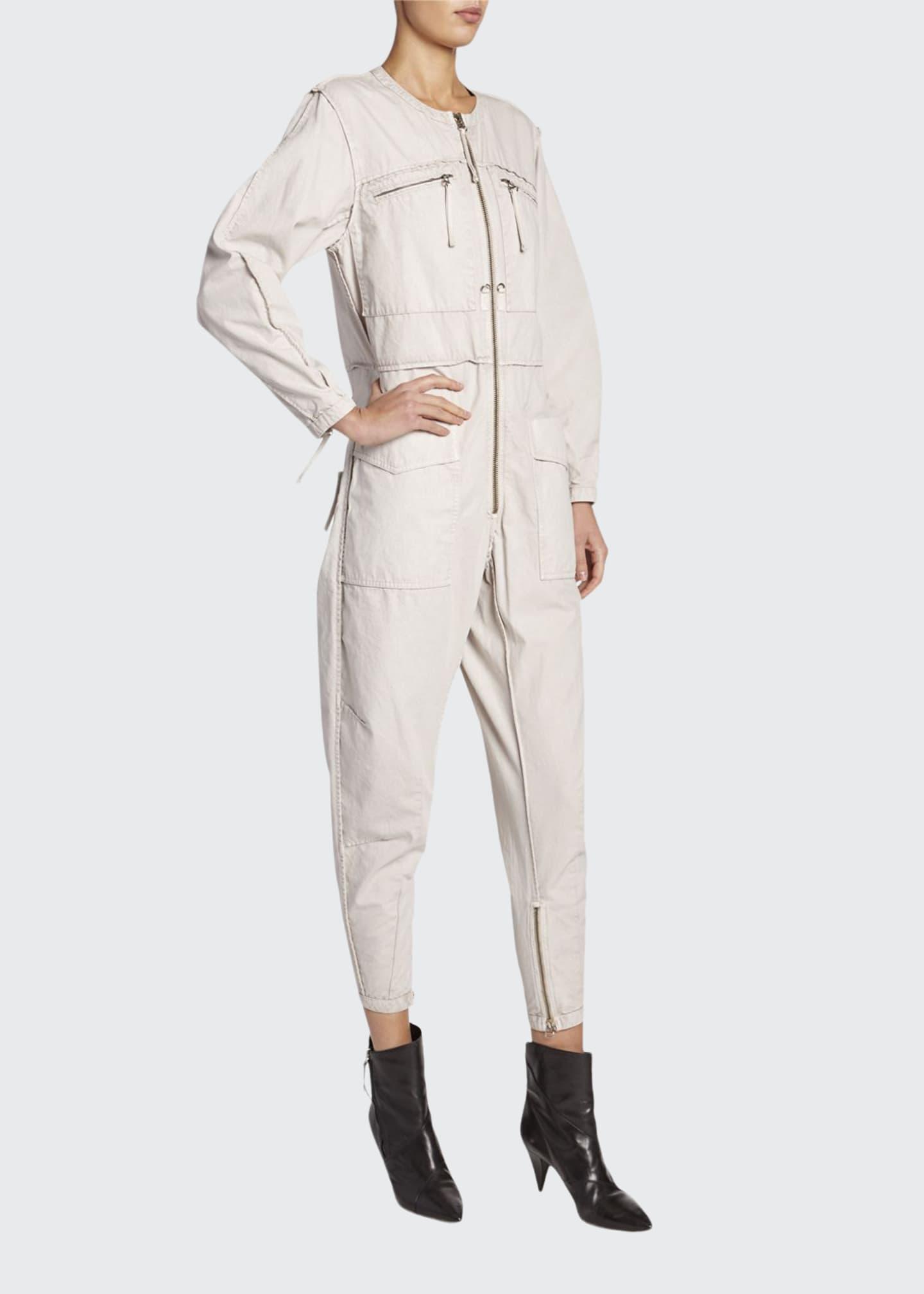 Etoile Isabel Marant Leiko Zip-Front Utility Jumpsuit