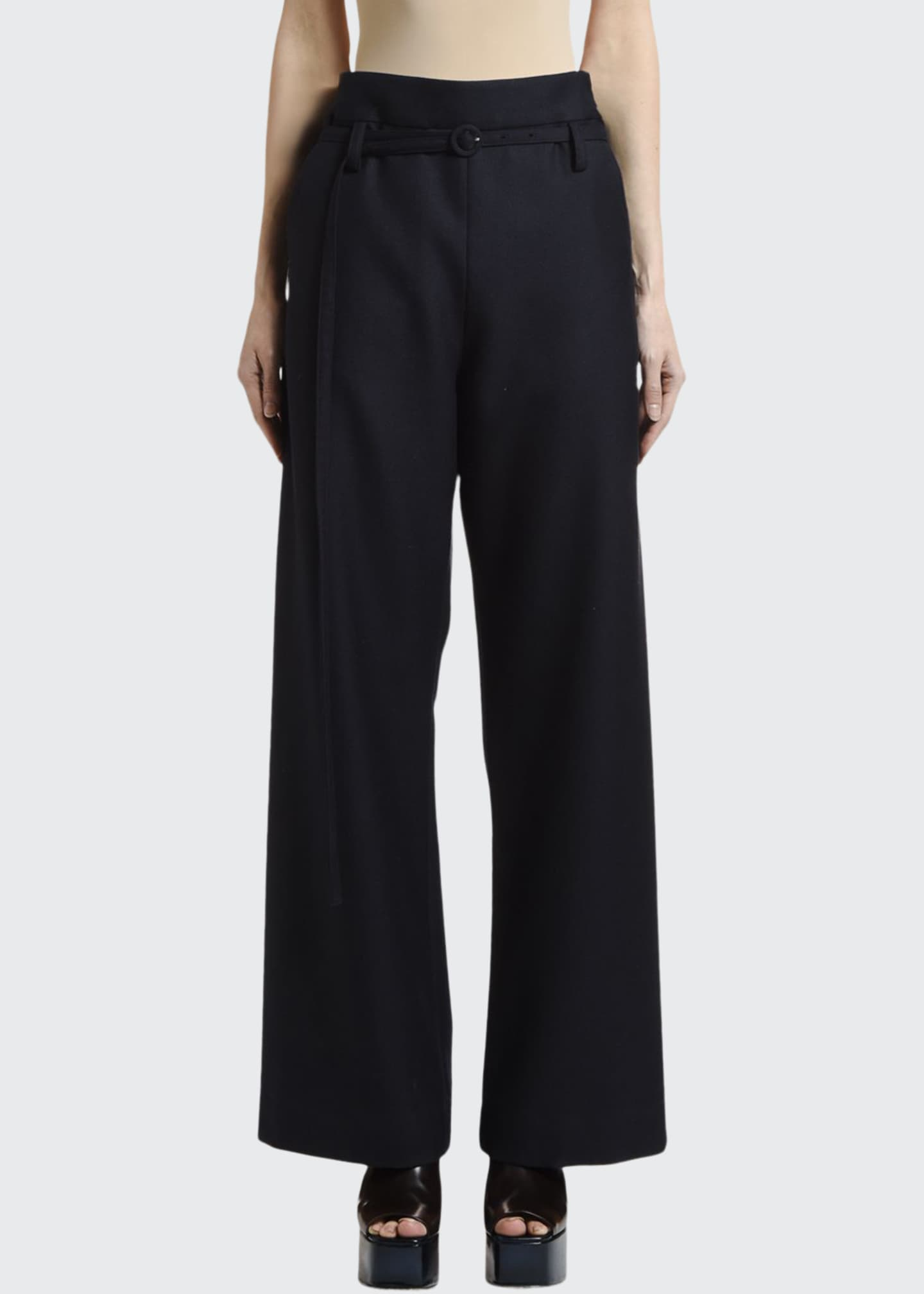Marni Light Flannel Paperbag Pants