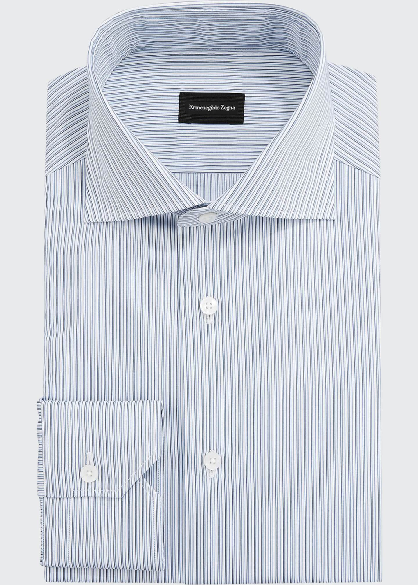 Ermenegildo Zegna Men's Fine-Stripe Dress Shirt