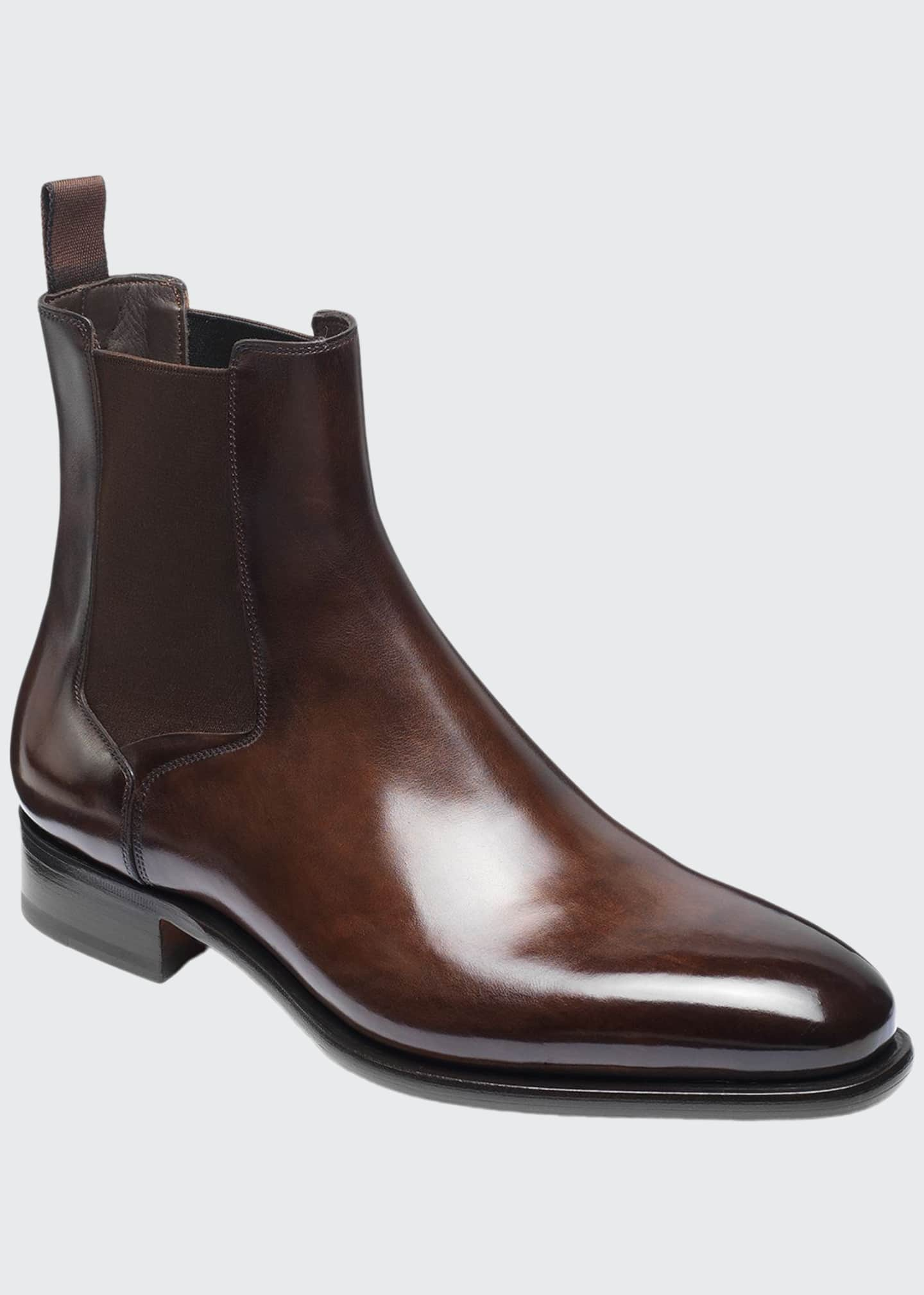 Image 1 of 5: Men's Lock Leather Chelsea Boots