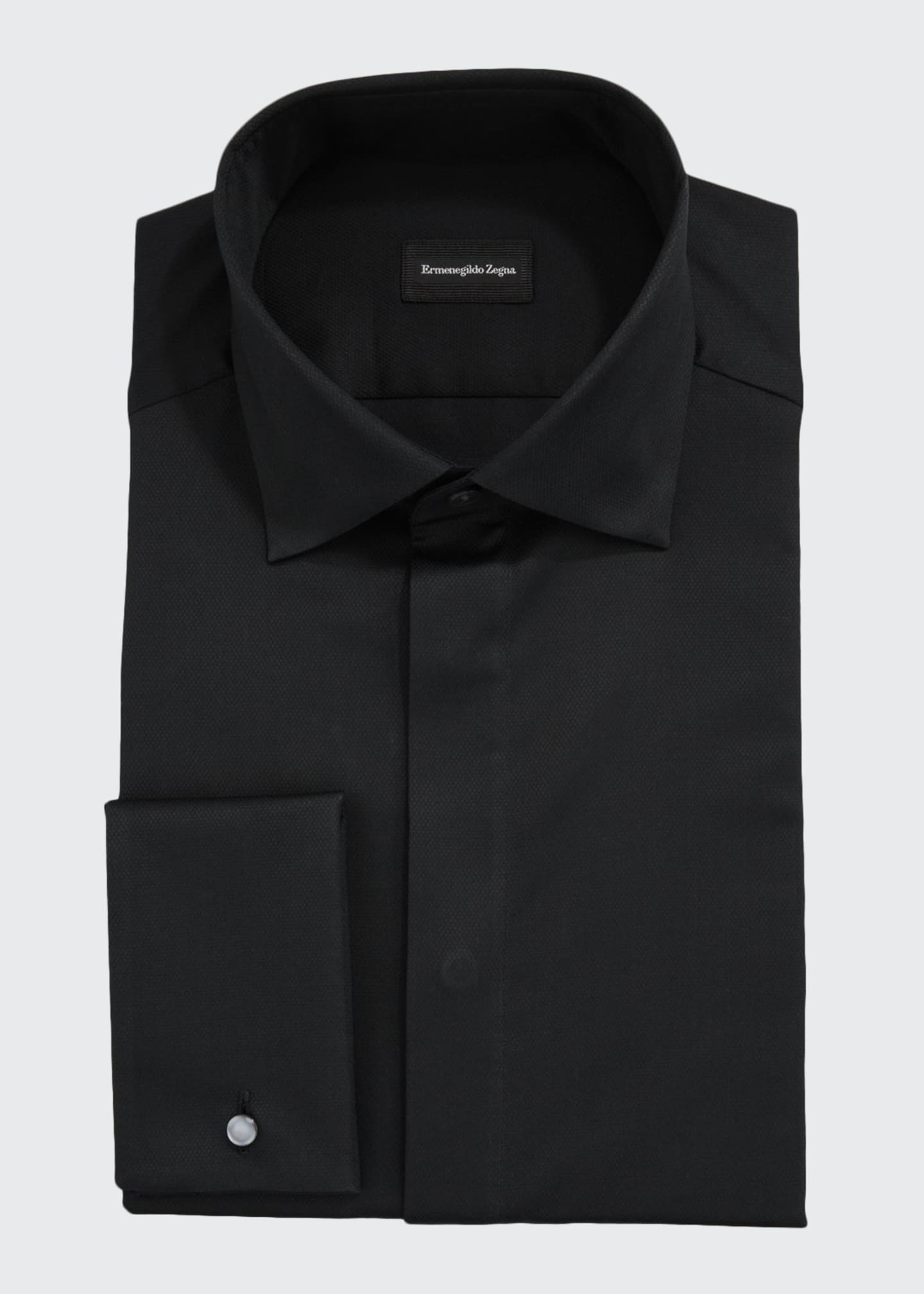 Image 1 of 2: Men's Bib-Front Formal Trim-Fit Dress Shirt