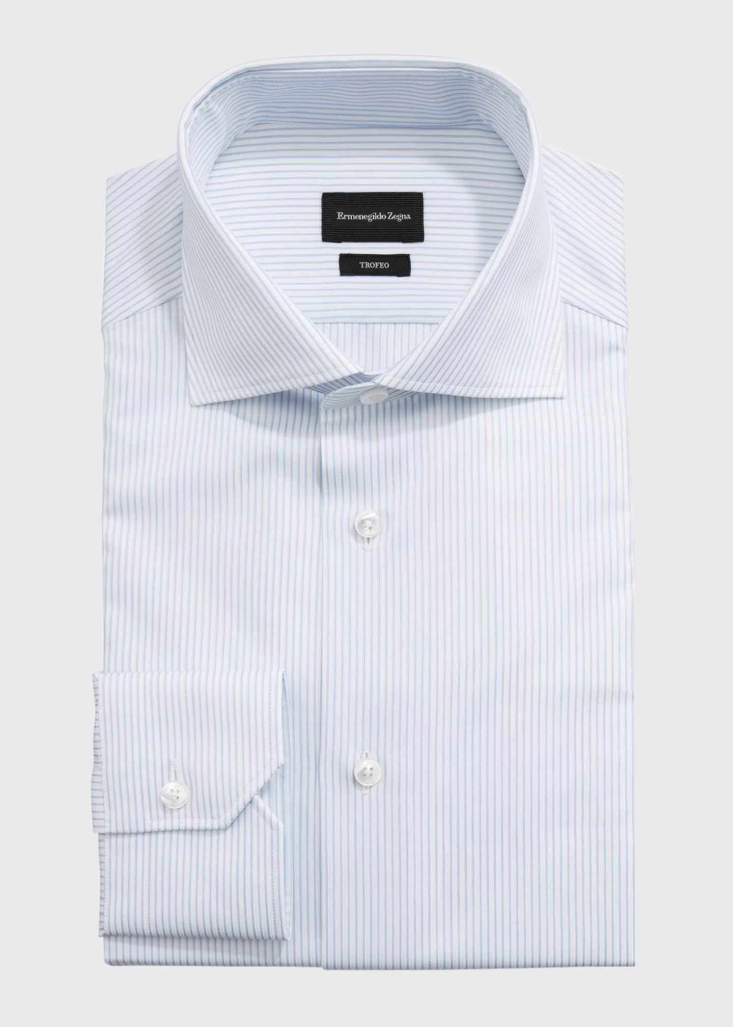Ermenegildo Zegna Men's Striped Dress Shirt