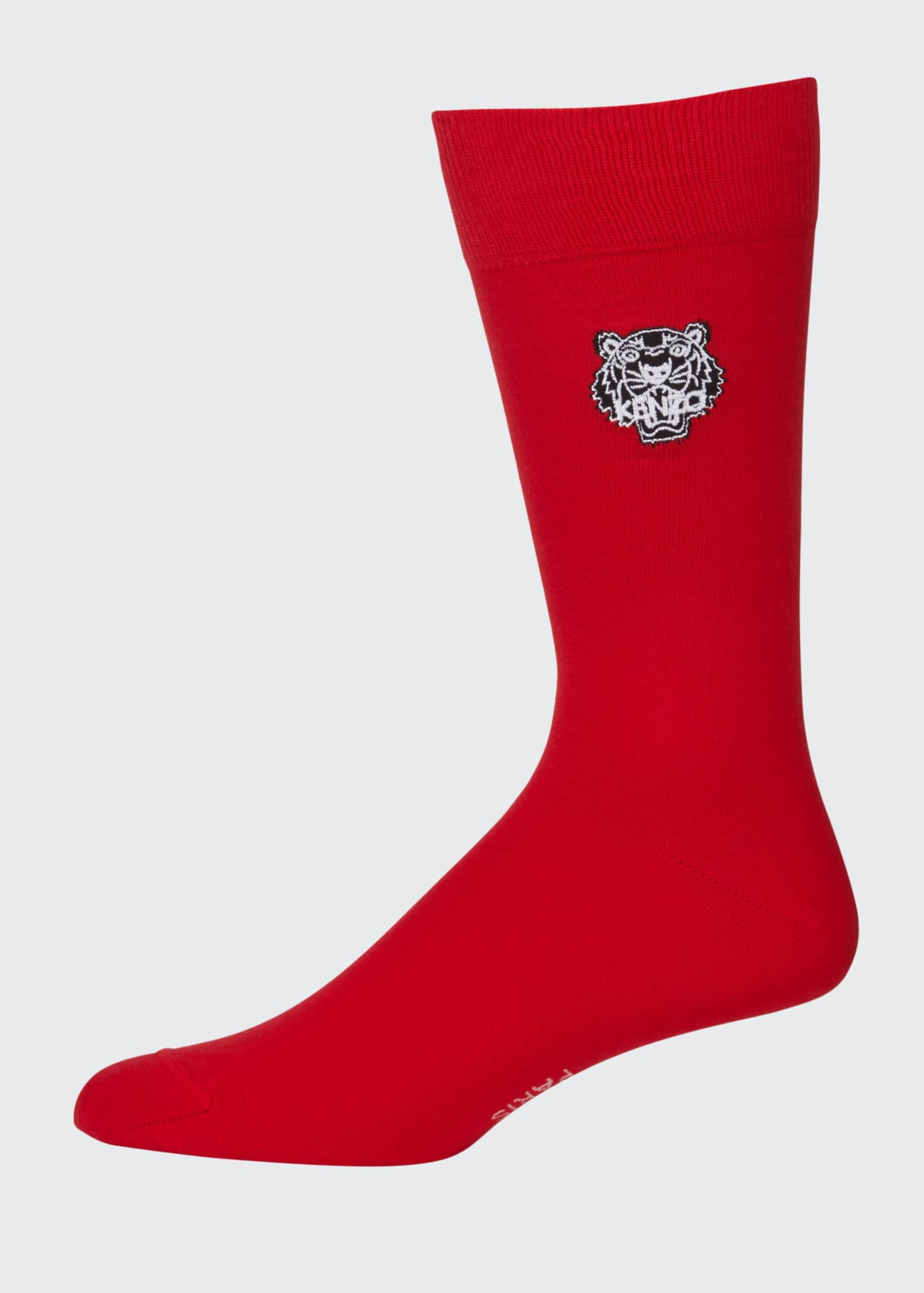 Kenzo Men's Tiger-Embroidered Socks