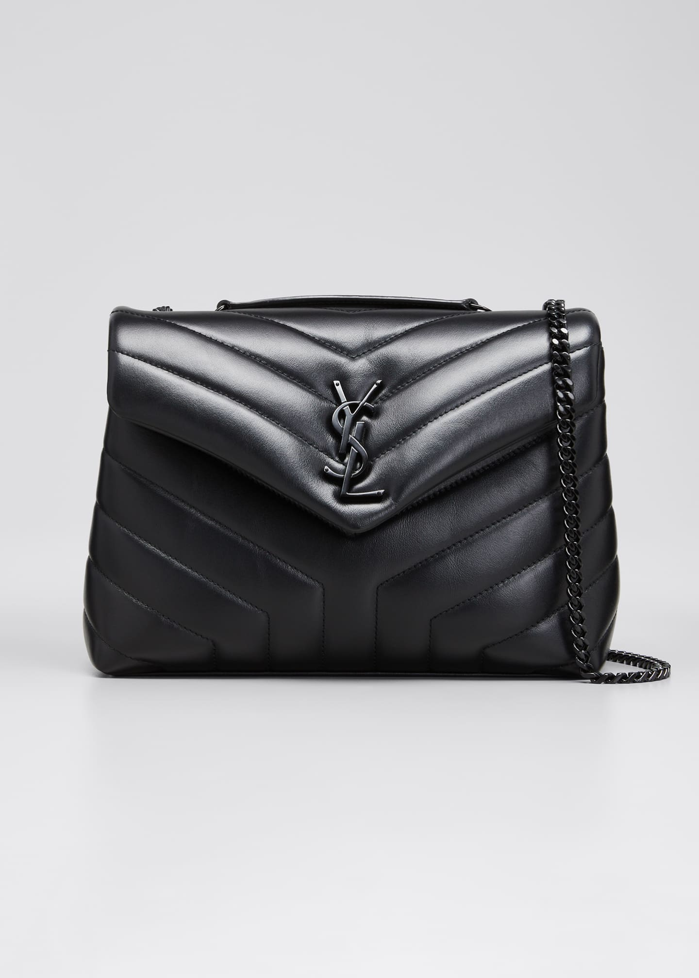 Saint Laurent Loulou Small Matelasse Calfskin Flap-Top Shoulder