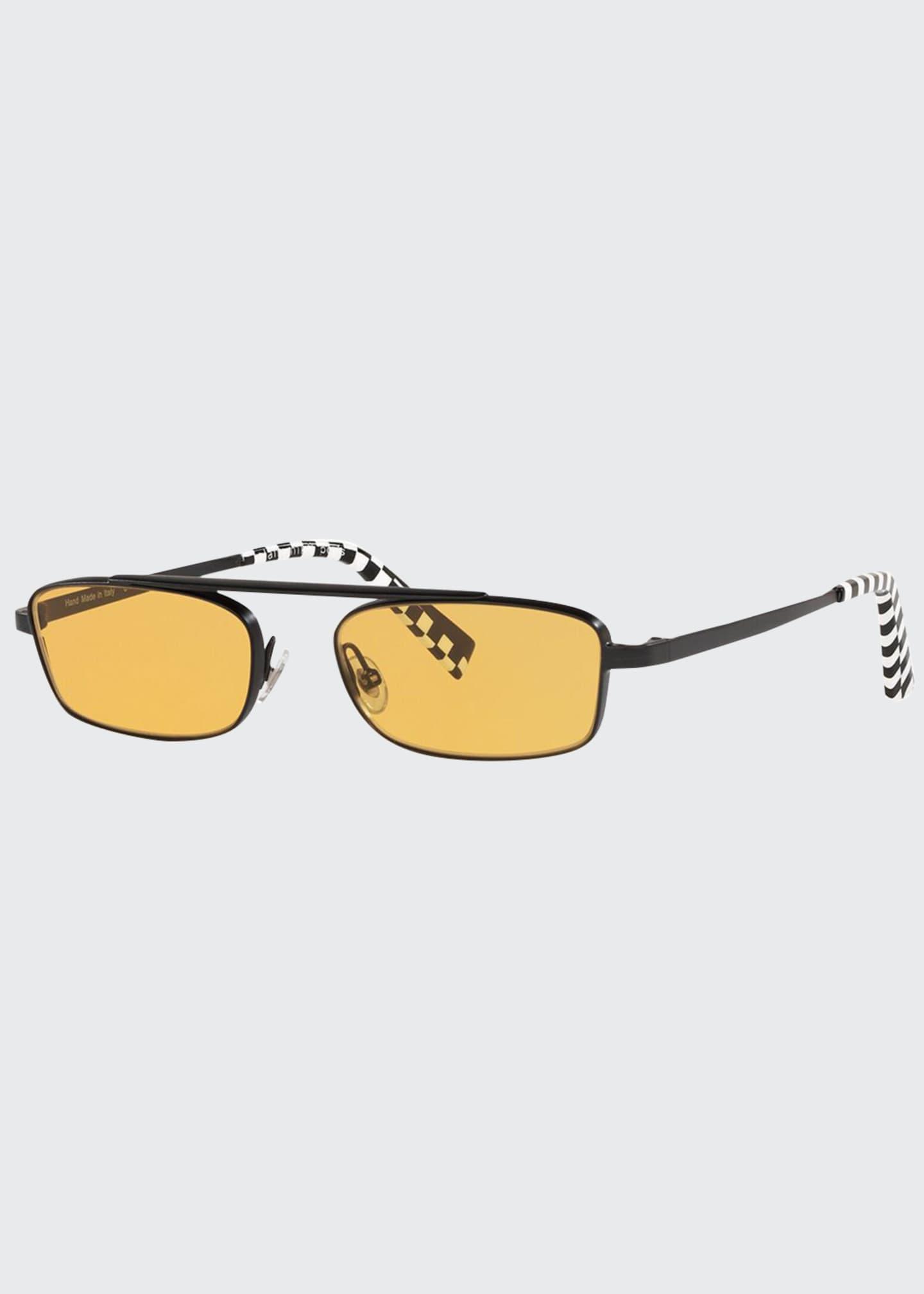 Alain Mikli Callot Rectangle Metal Sunglasses
