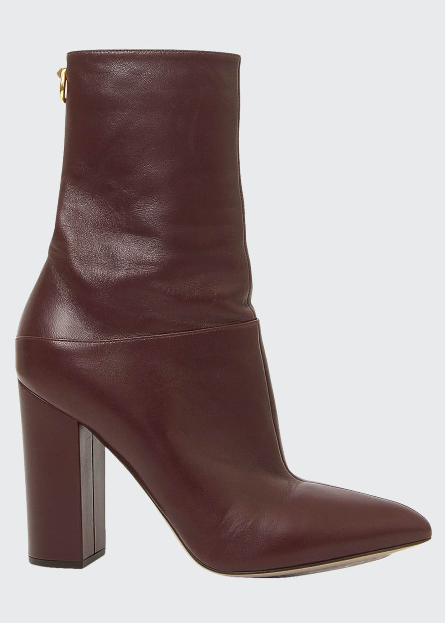 Image 1 of 1: Ring Rockstud Leather Booties
