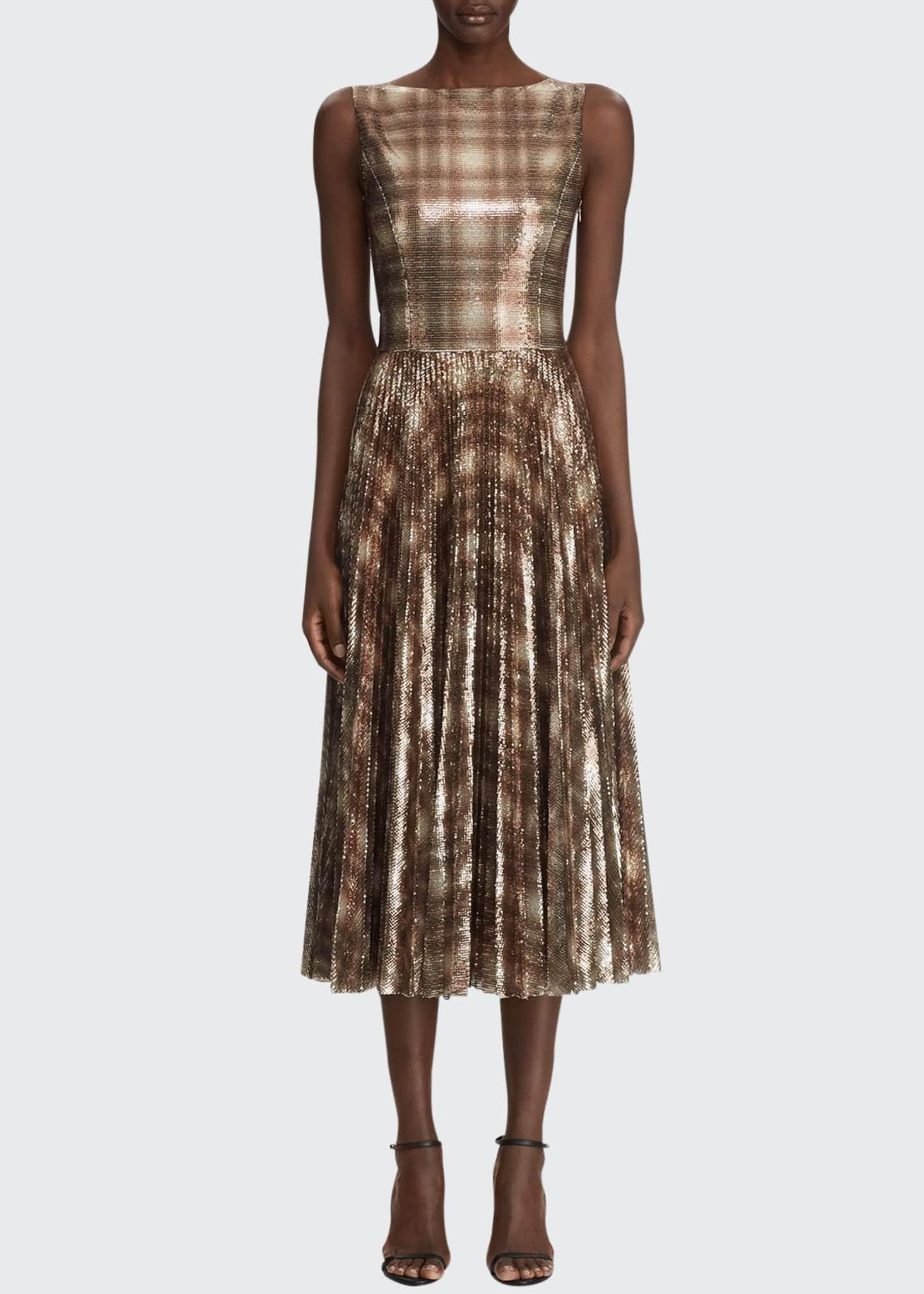 Ralph Lauren Collection Arwen Embellished Plaid Dress