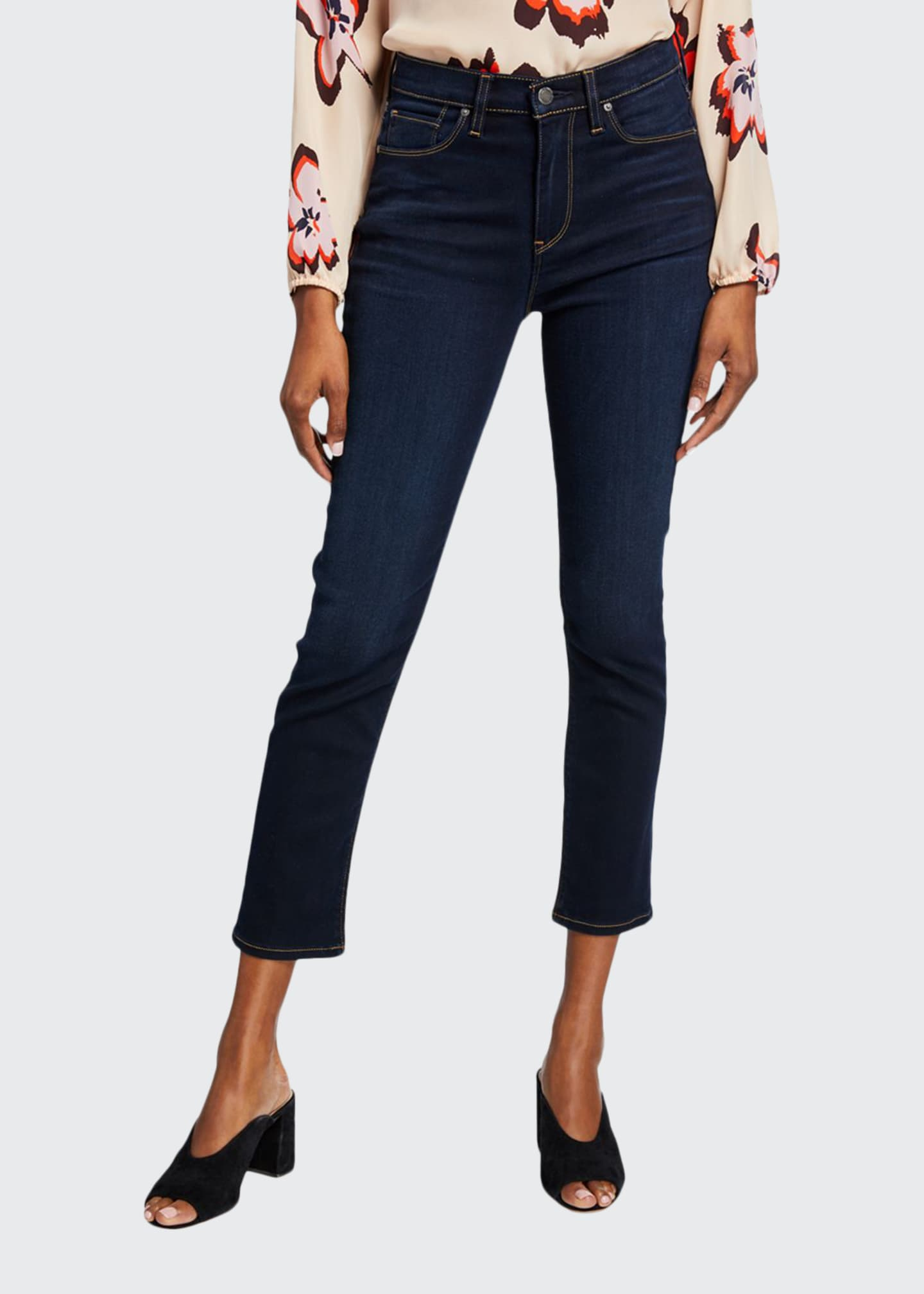 Image 1 of 3: Holly High-Rise Crop Skinny Jeans