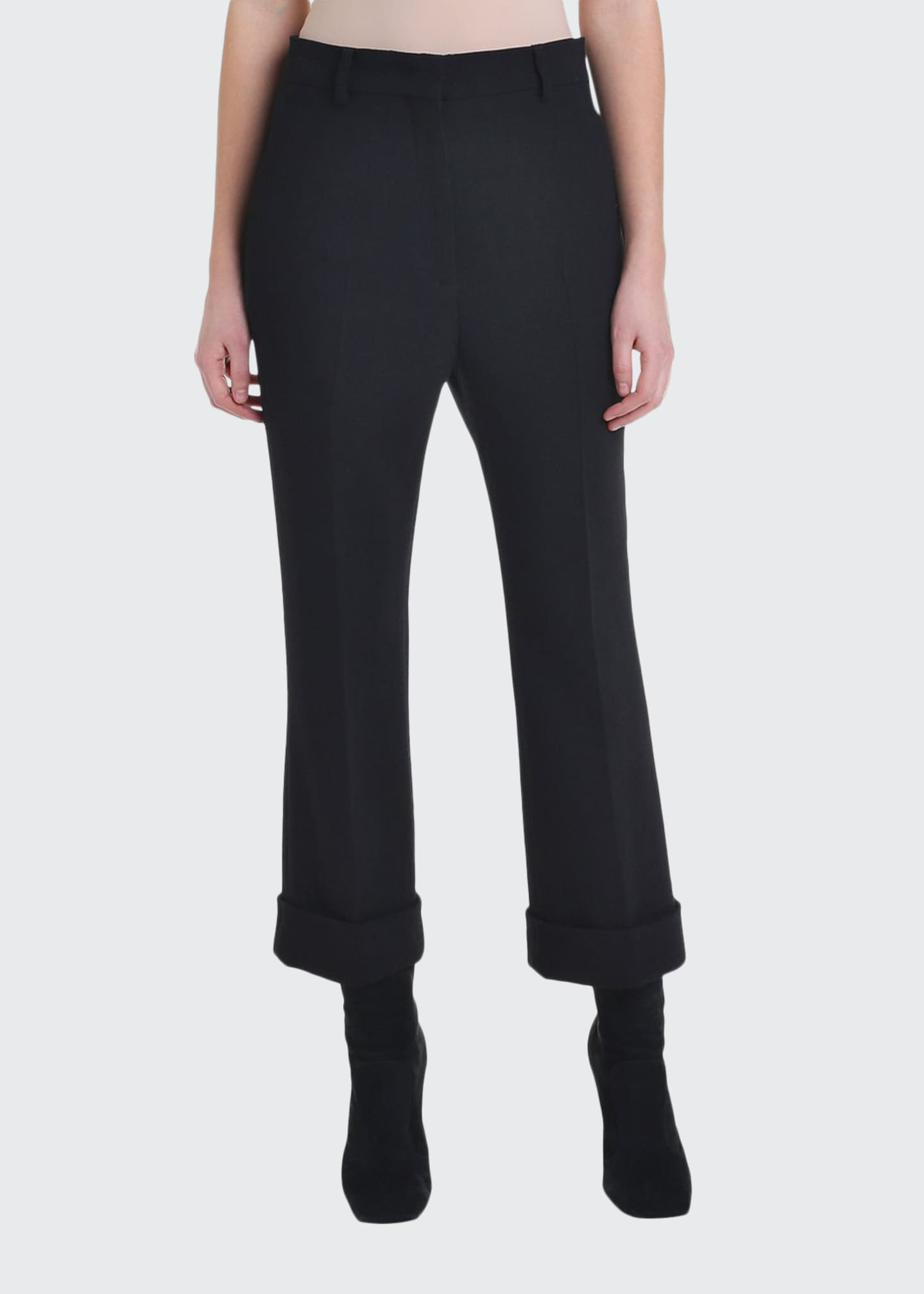 Image 1 of 4: Cropped Wool Crepe Skinny Pants