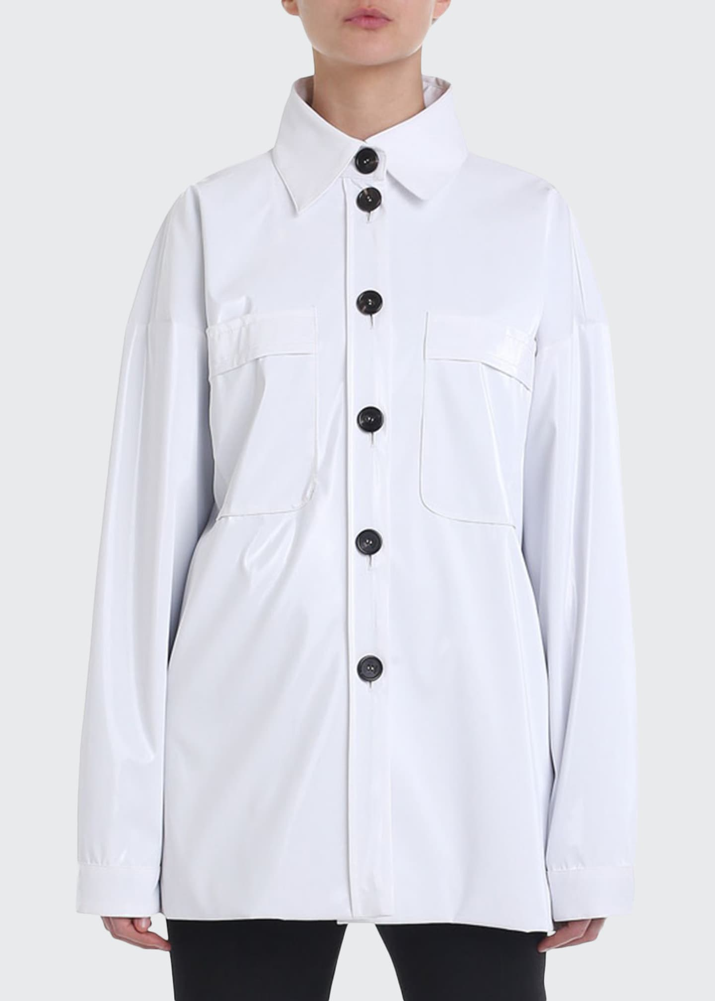 Fendi Button-Front Tech Utility Shirt