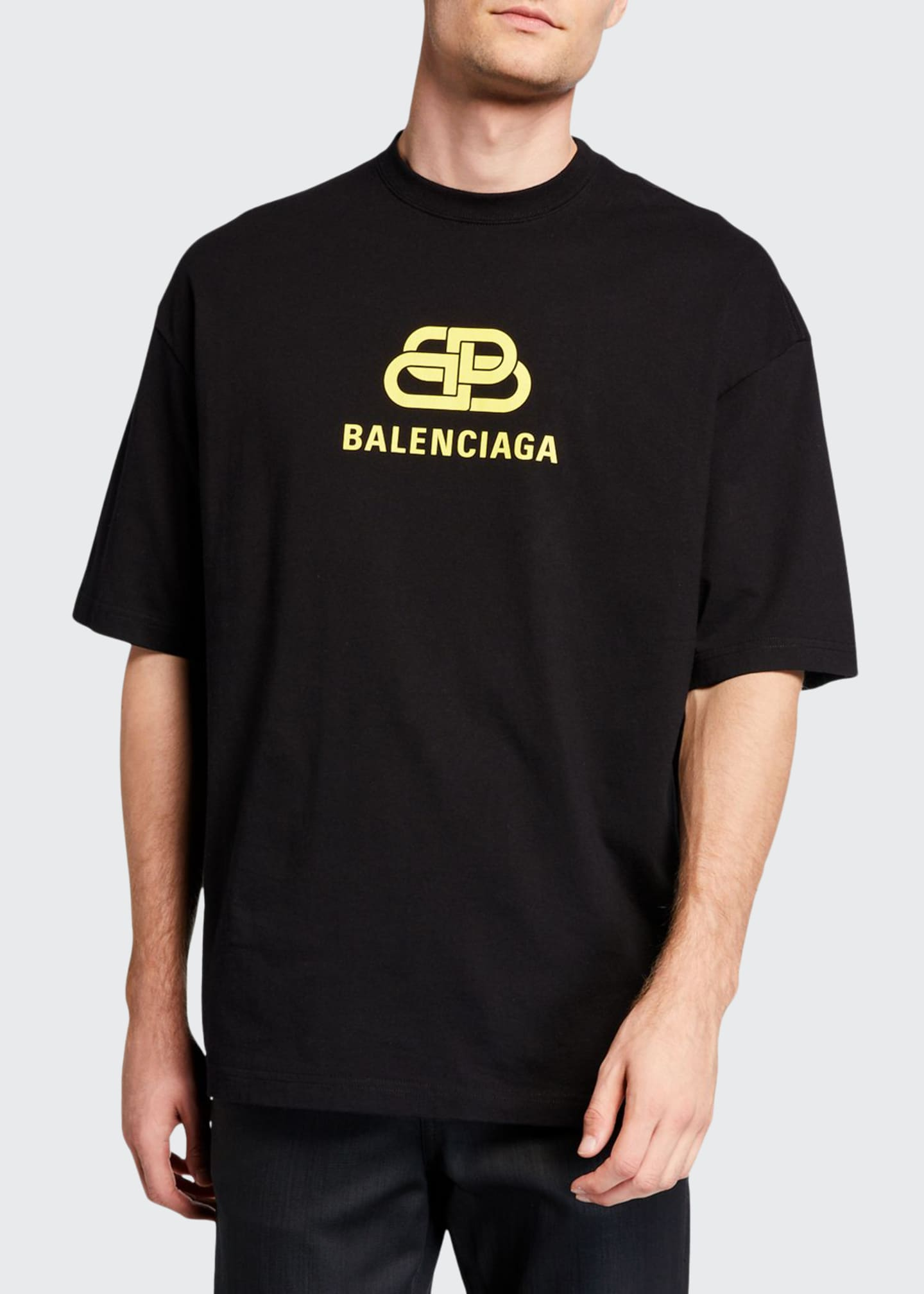 Balenciaga Men's BB Logo Typographic T-Shirt
