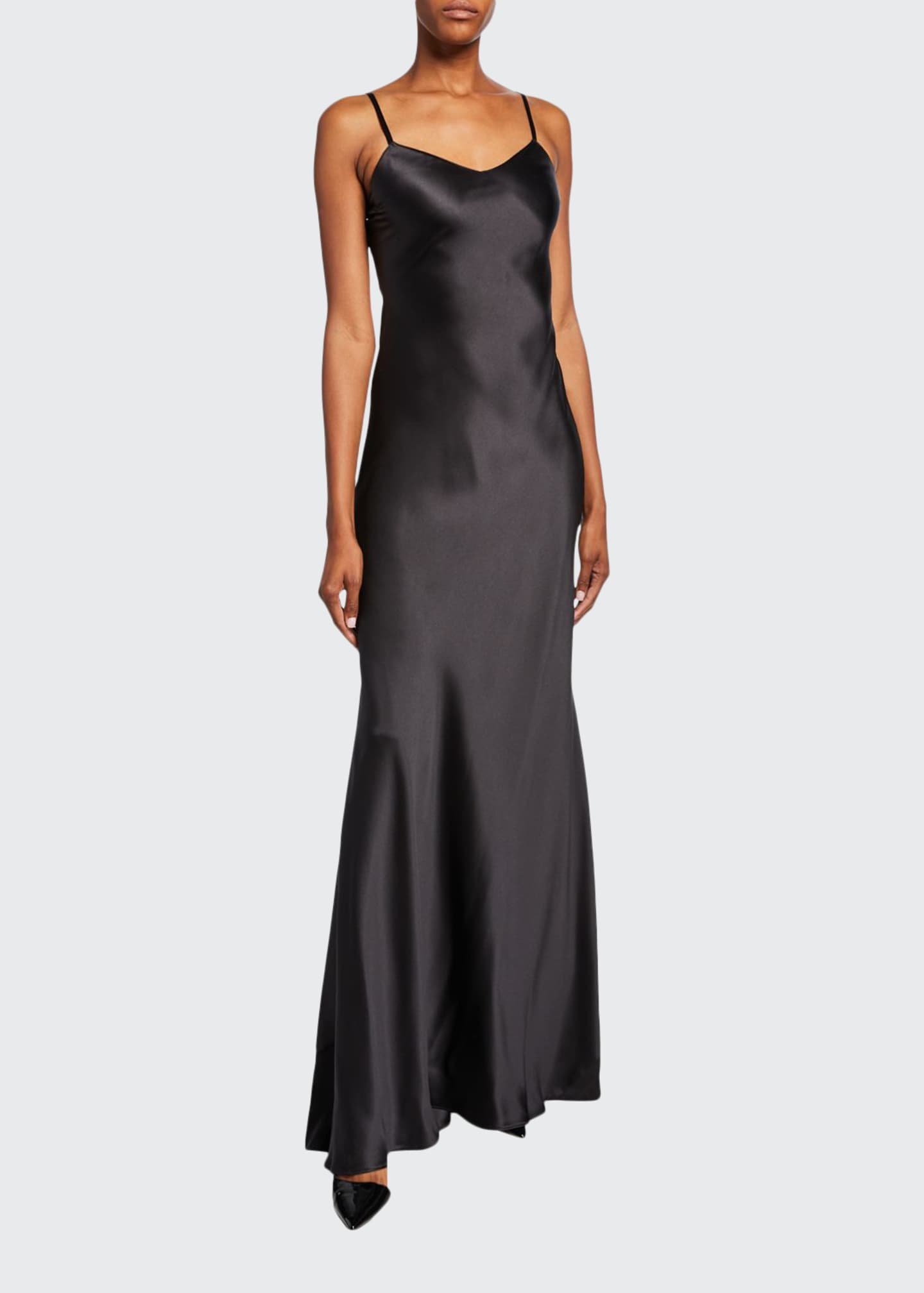 Ralph Lauren Collection Evelyn Charmeuse Maxi Slip Dress