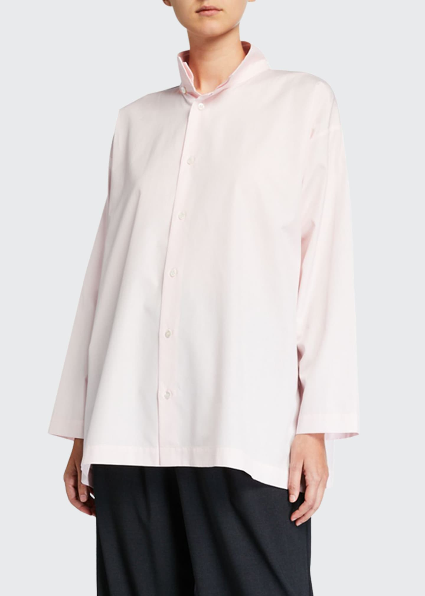 Image 1 of 2: Slim A-Line Two-Collar Shirt