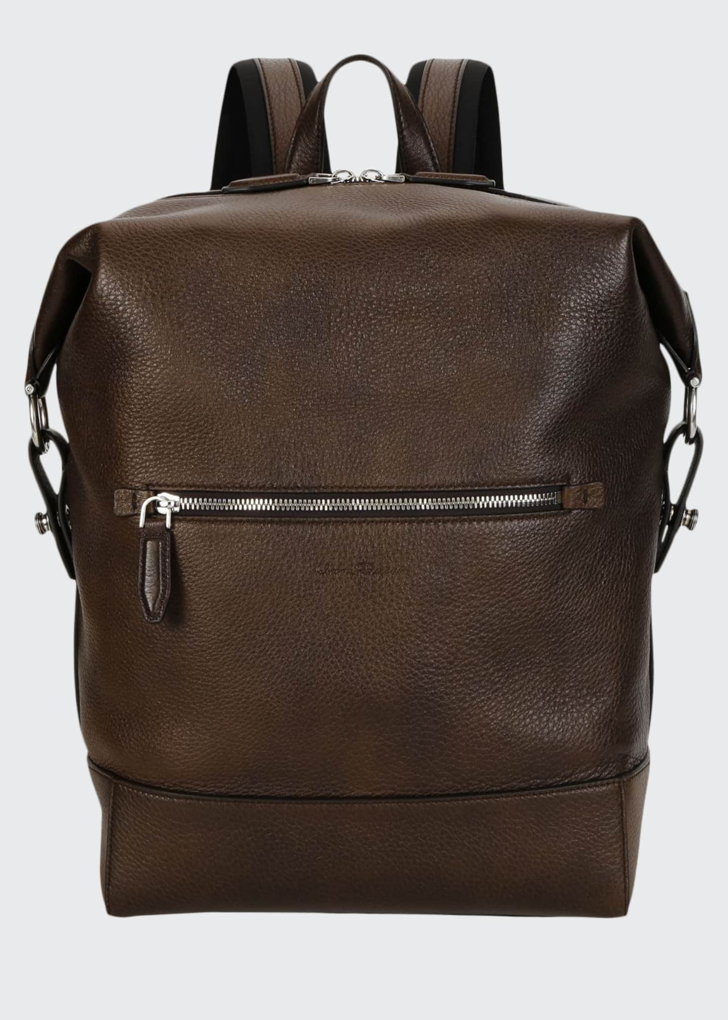 Image 1 of 3: Men's Medium Leather Backpack