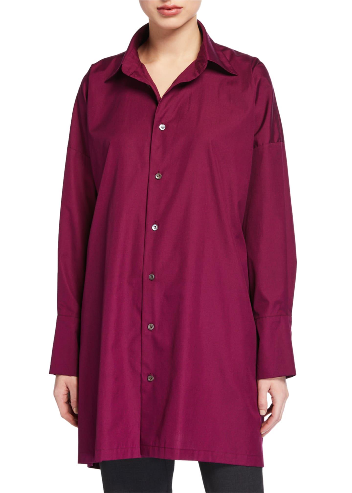 Eskandar Wide A-Line Poplin Shirt