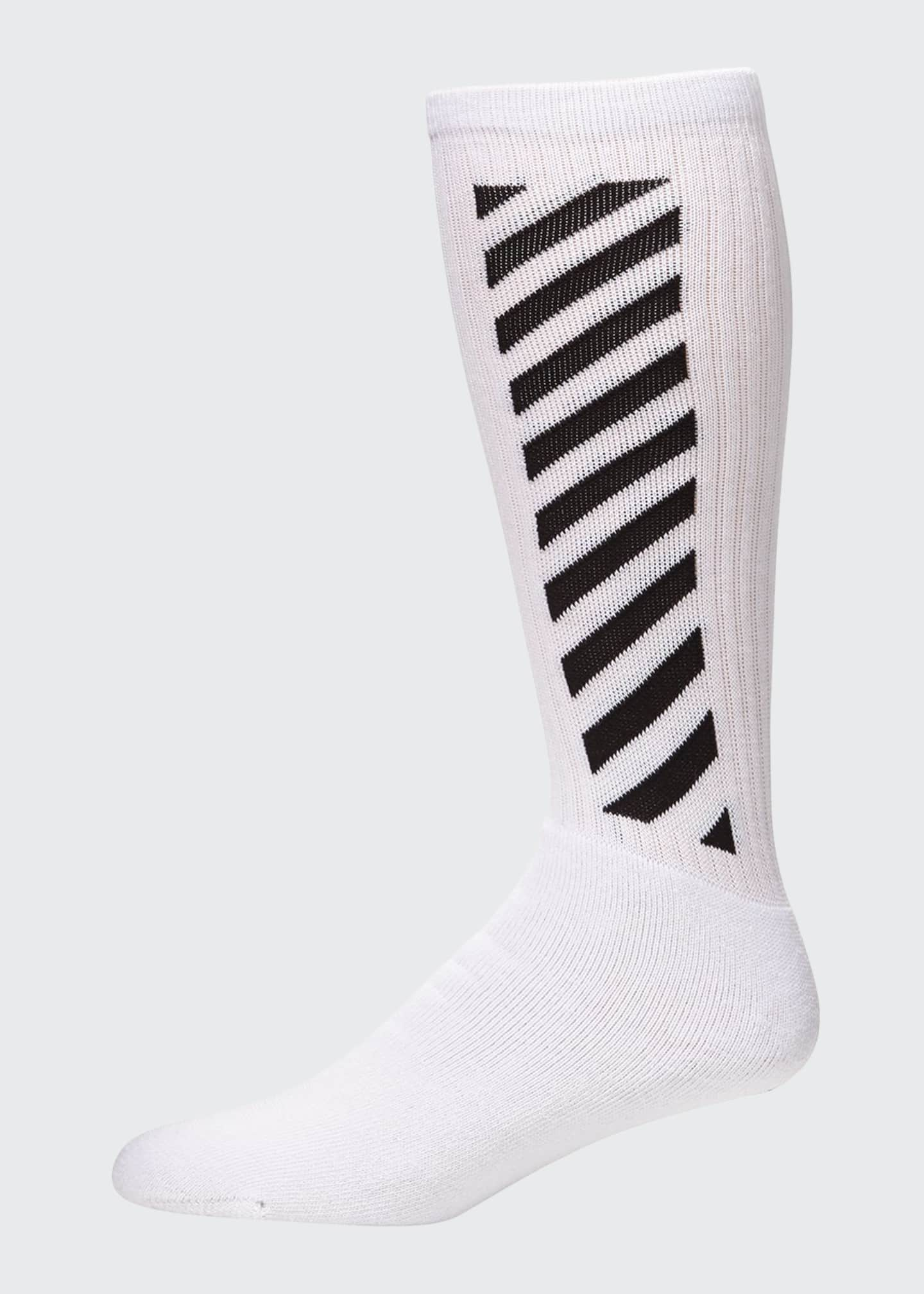 Image 1 of 2: Men's Diagonal-Stripe Mid-Length Socks
