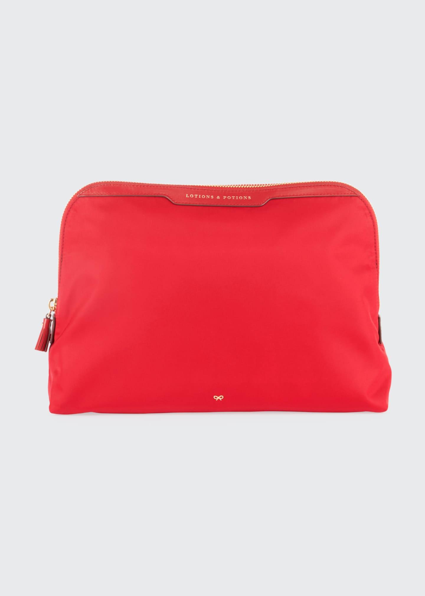 Anya Hindmarch Lotions & Potions Cosmetics Bag, Red