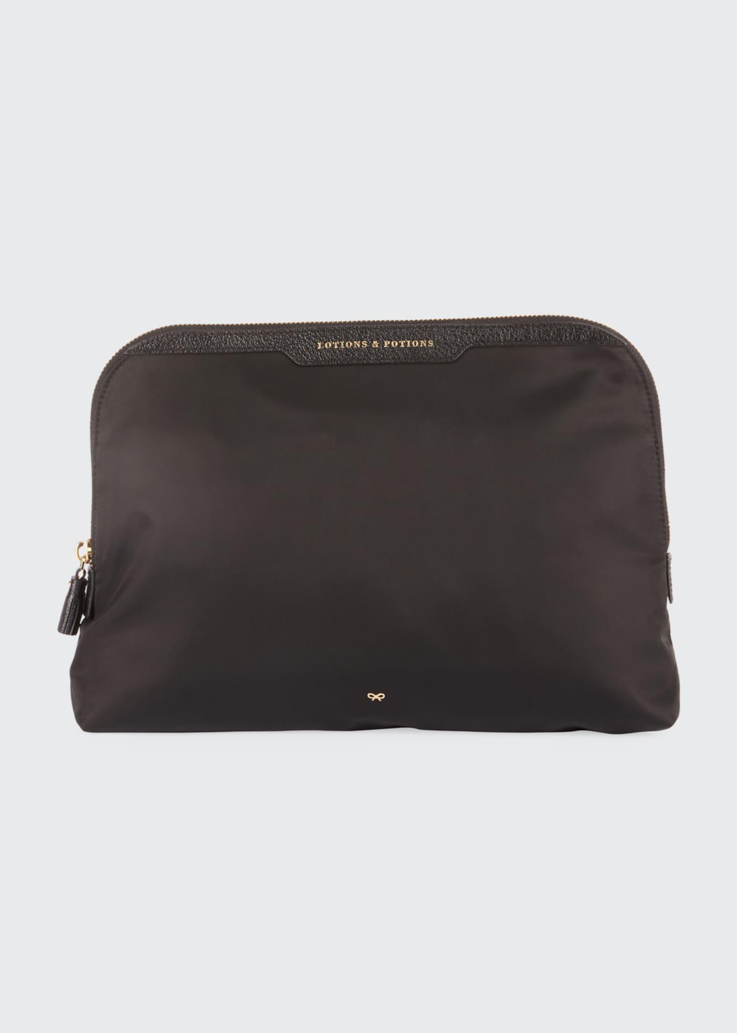 Anya Hindmarch Lotions & Potions Cosmetics Bag, Black