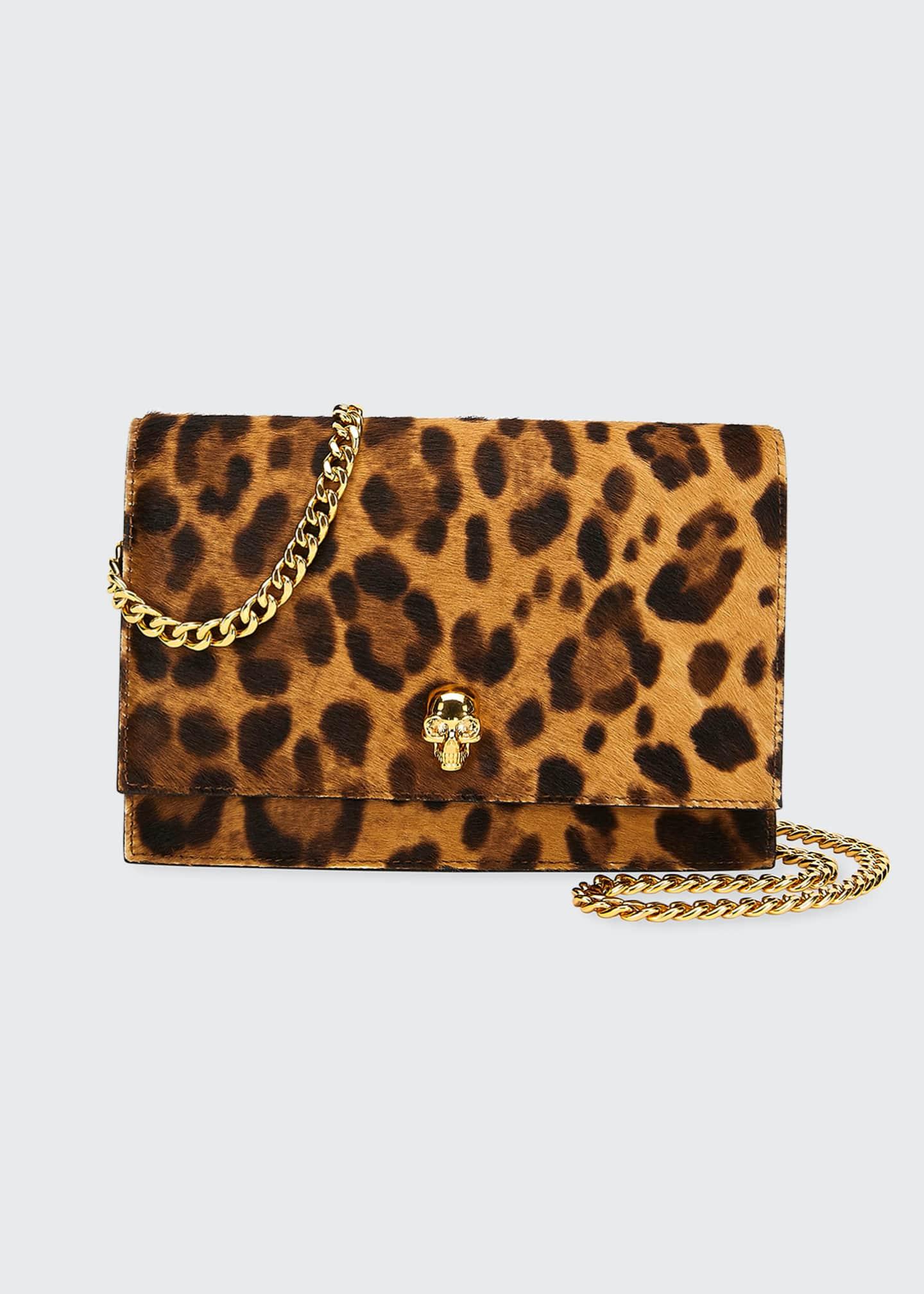 Alexander McQueen Cheetah-Print Mini Shoulder Bag