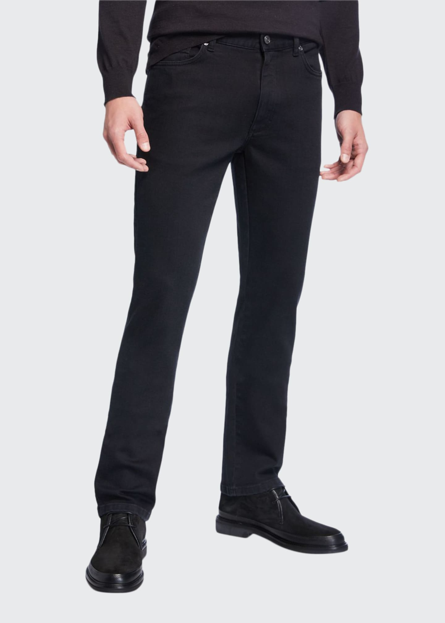 Ermenegildo Zegna Men's 5-Pocket Straight-Leg Jeans