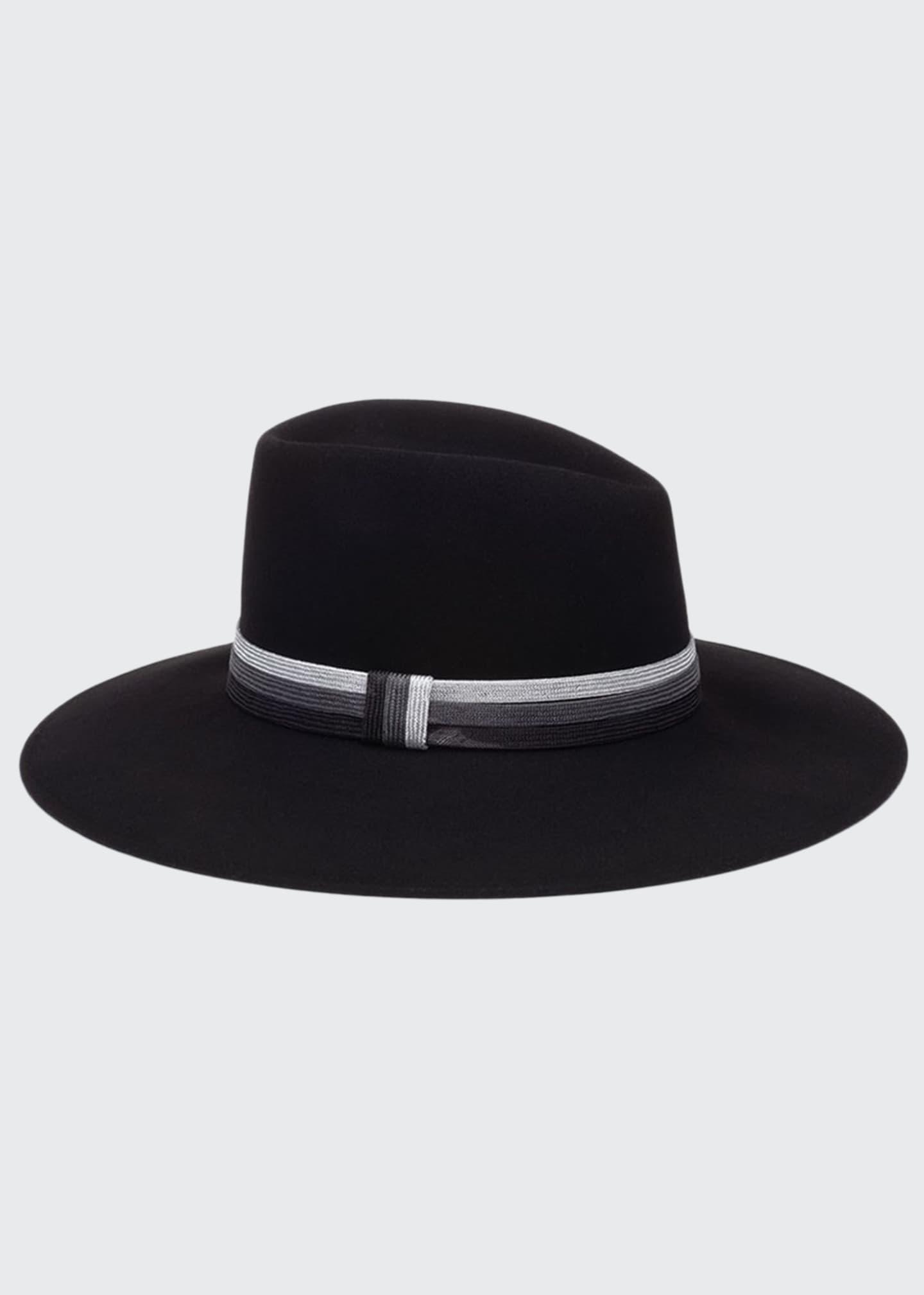 Eugenia Kim Harlowe Wool Panama Hat w/ Colorblock