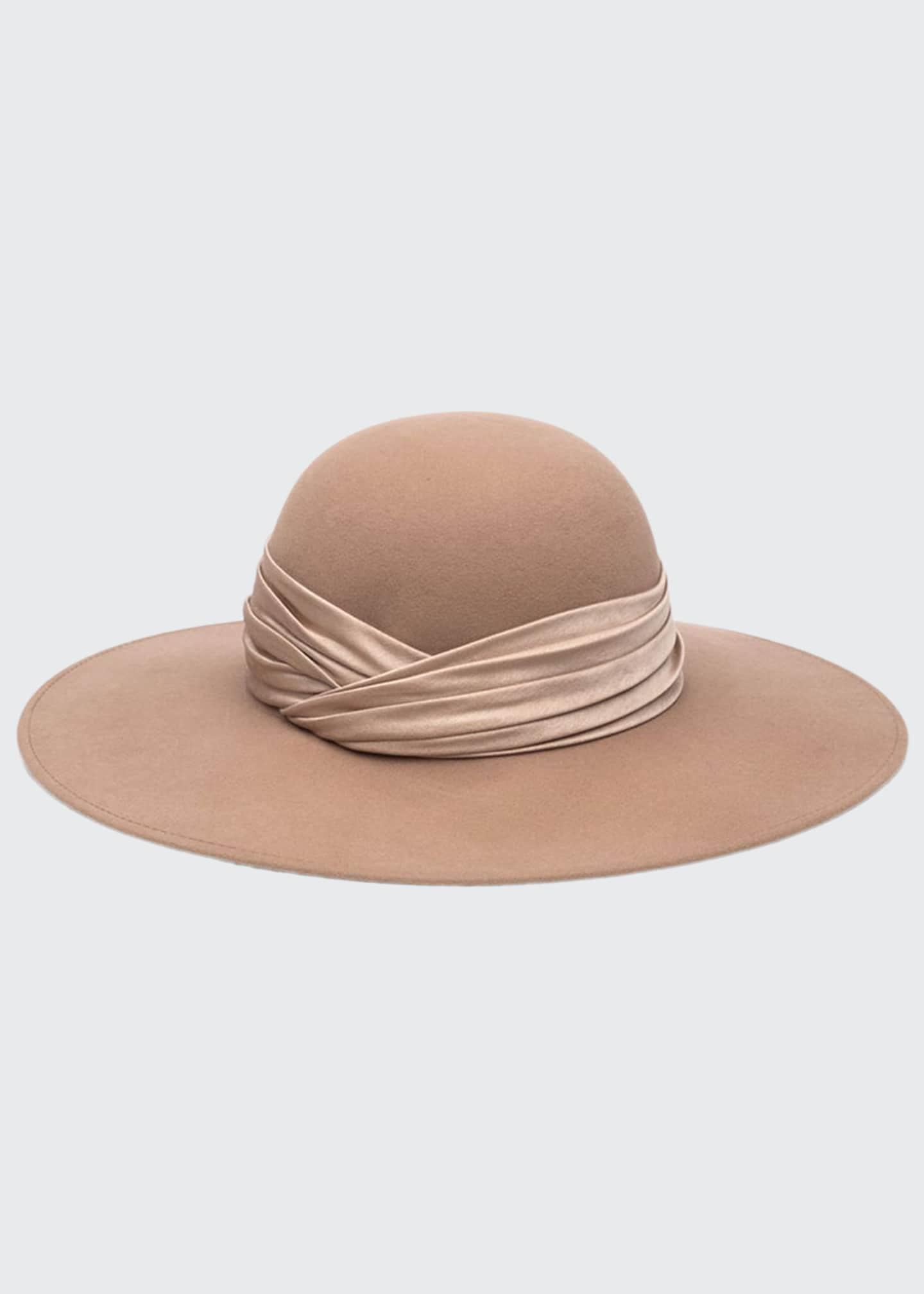 Eugenia Kim Honey Wool Large Brim Hat