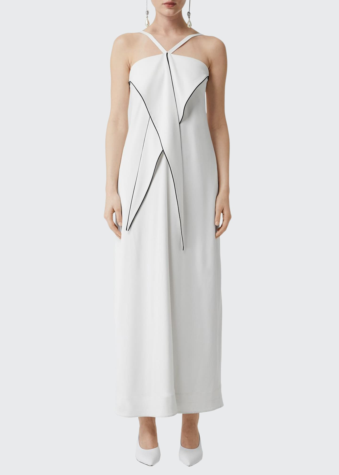 Burberry Draped Front Halter Dress