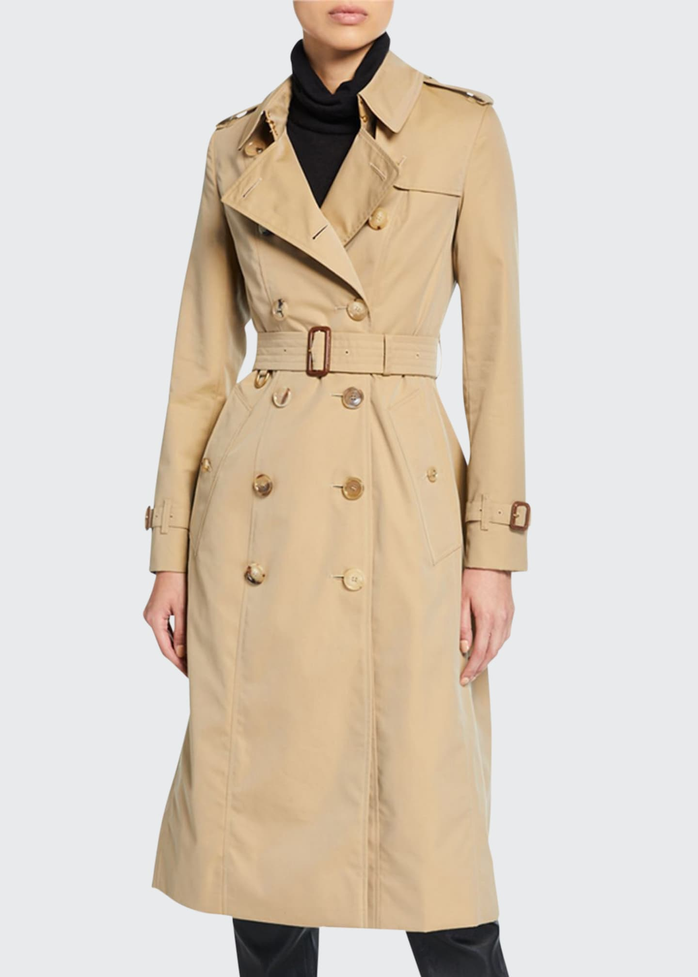 Burberry Chelsea Fitted Cotton Trench Coat