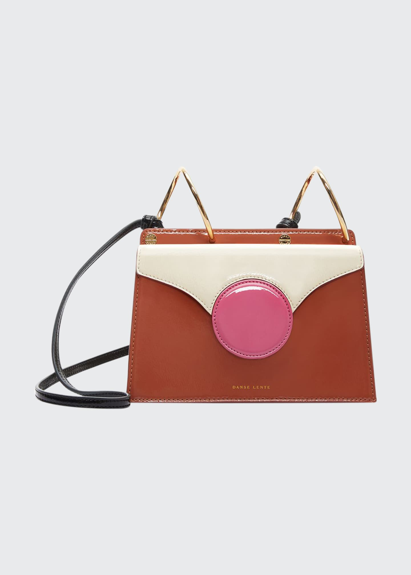 Danse Lente Mini Phoebe Colorblock Shoulder Bag, Brown/Pink