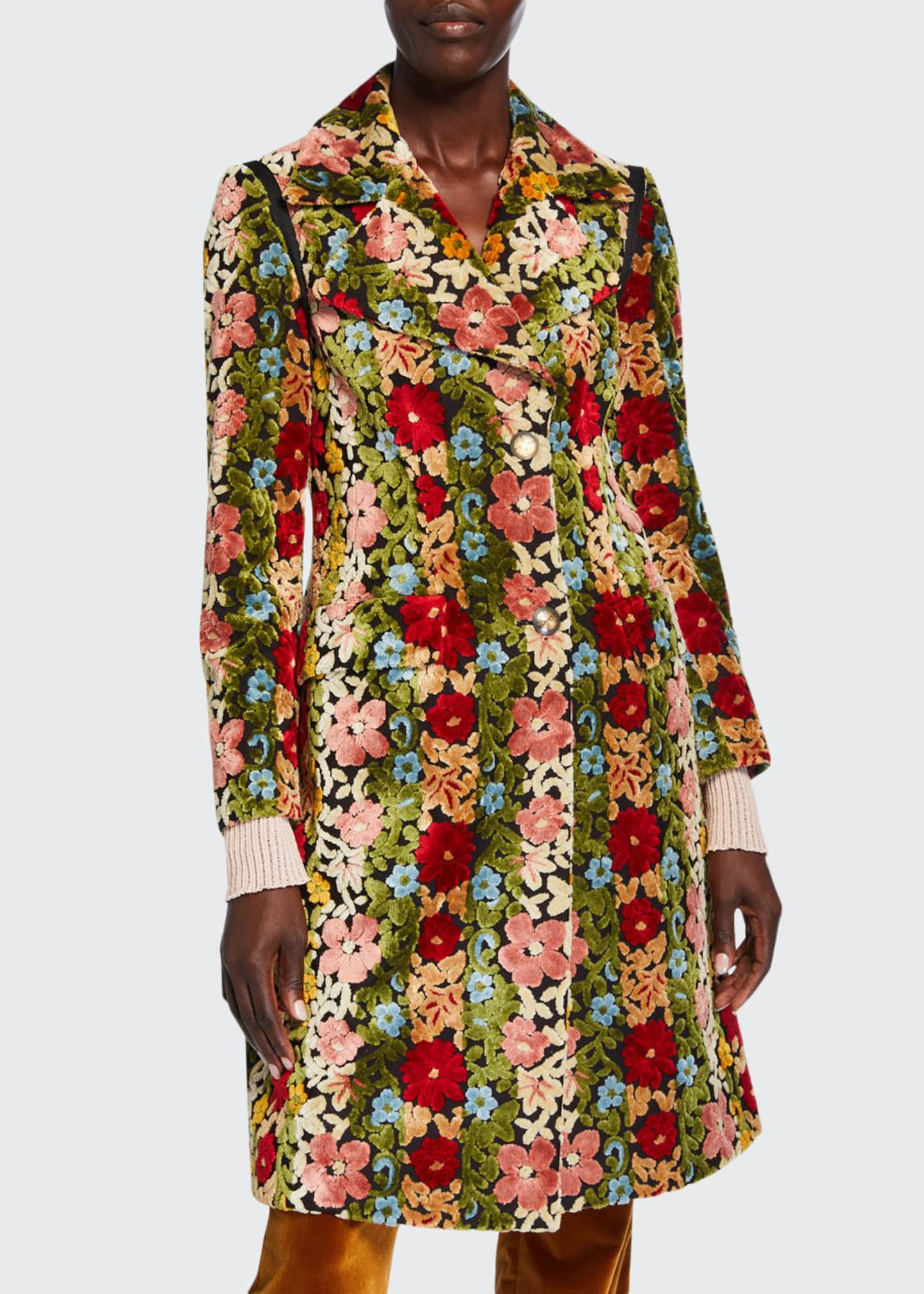 Etro Carpet Floral Embroidered Coat