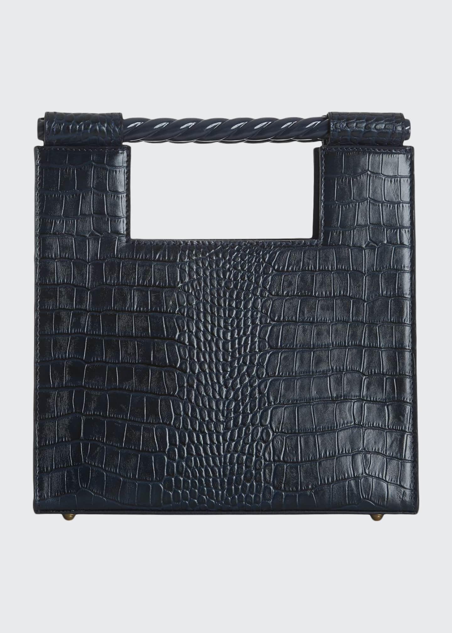Mehry Mu Crocodile-Embossed Unicorn Bag