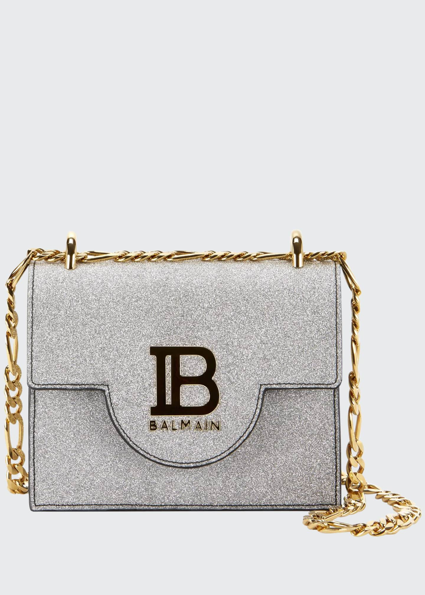 Balmain B BAG 18 GLITTER LEATHER