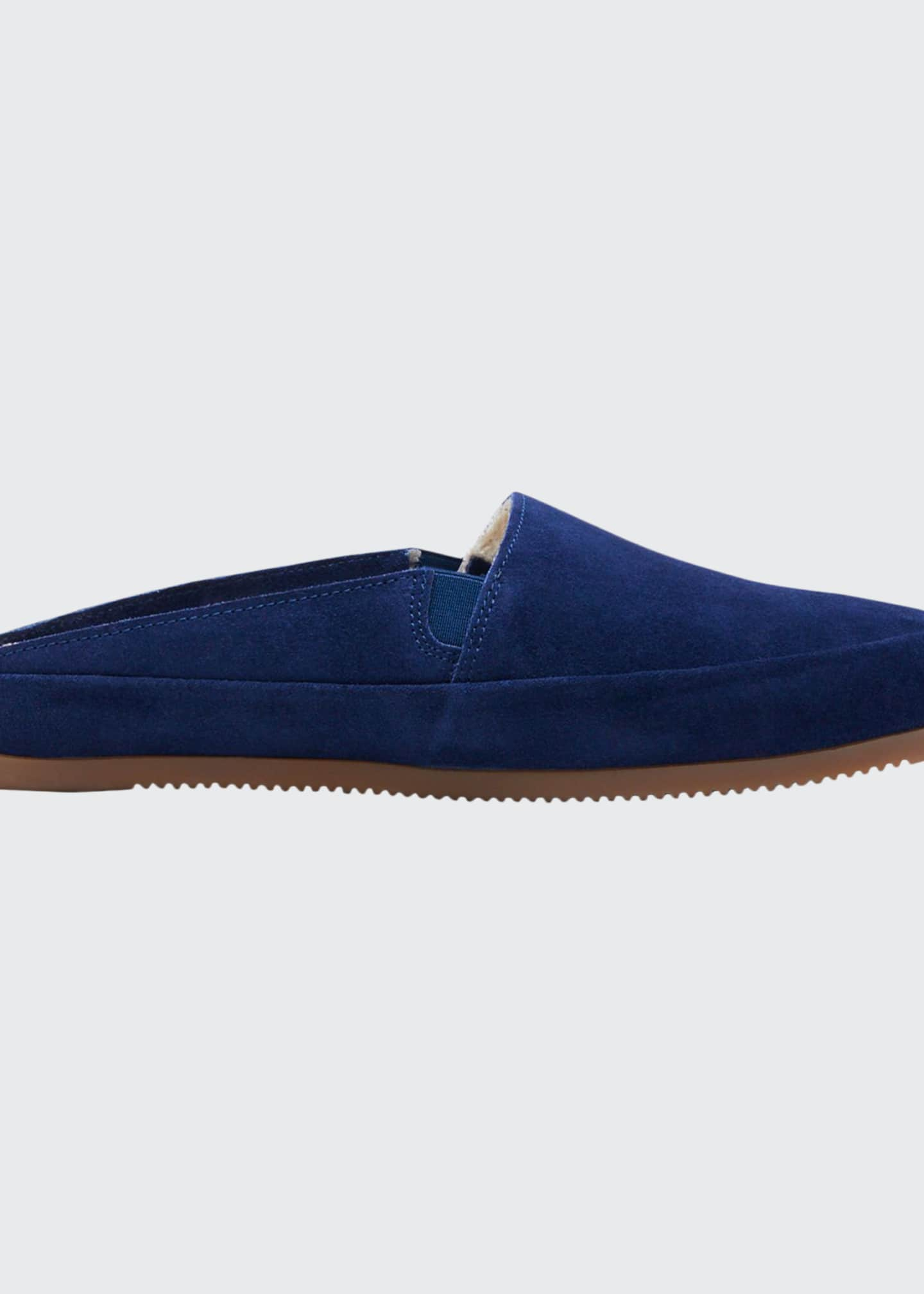 Image 1 of 3: Men's Suede Shearling Slippers