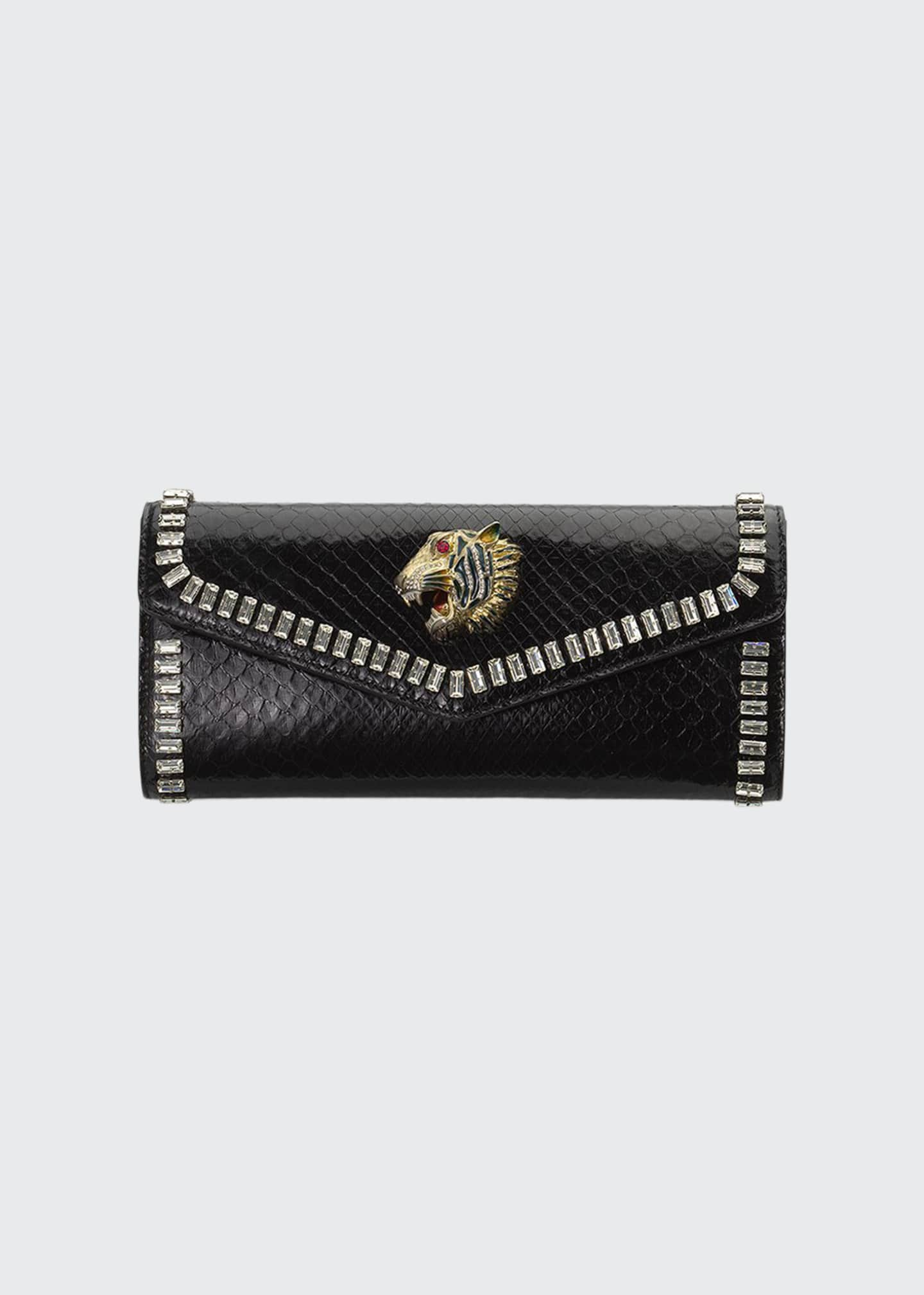 Gucci Broadway Python Clutch Bag