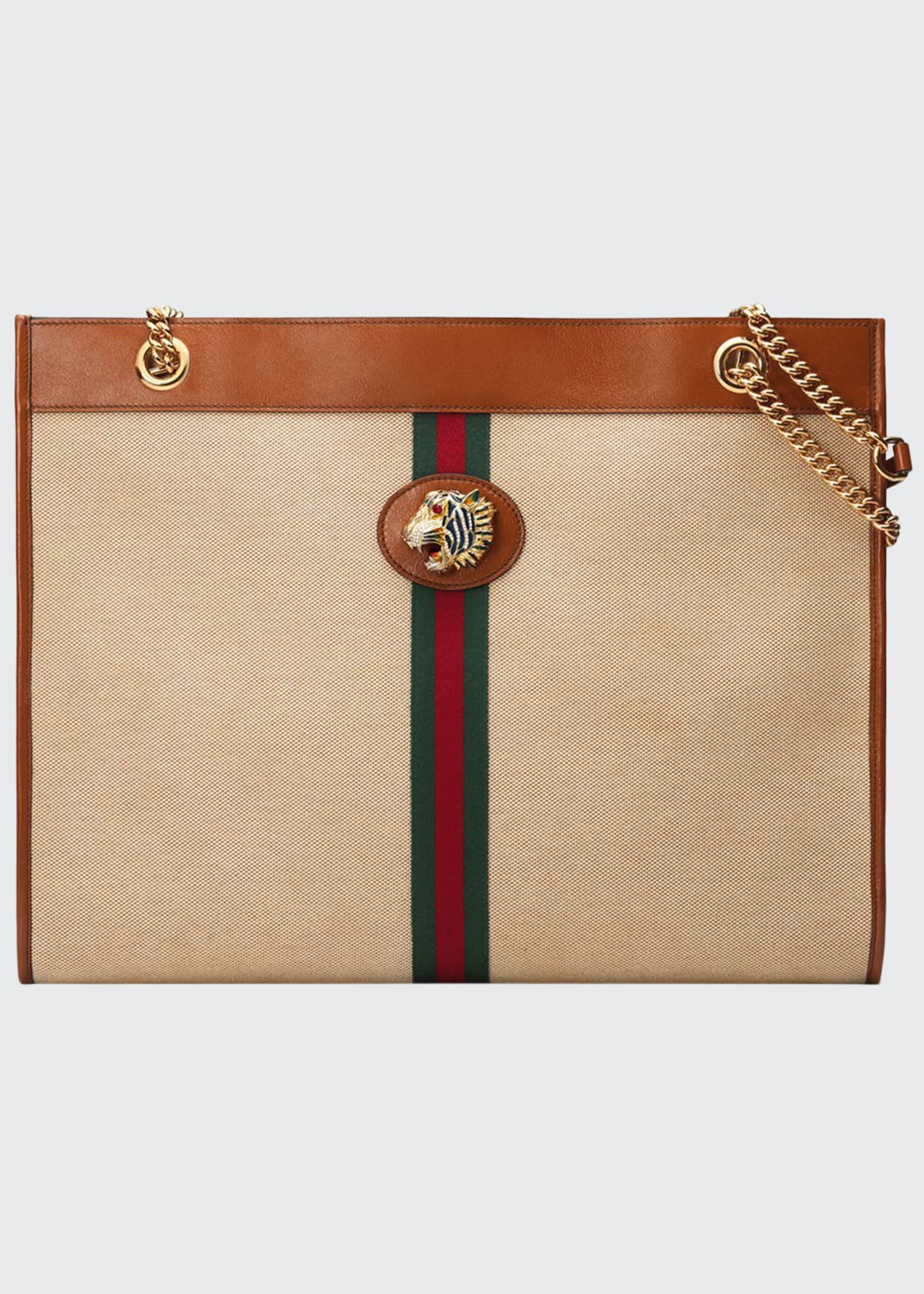 Gucci Rajah Large Canvas Tote Bag