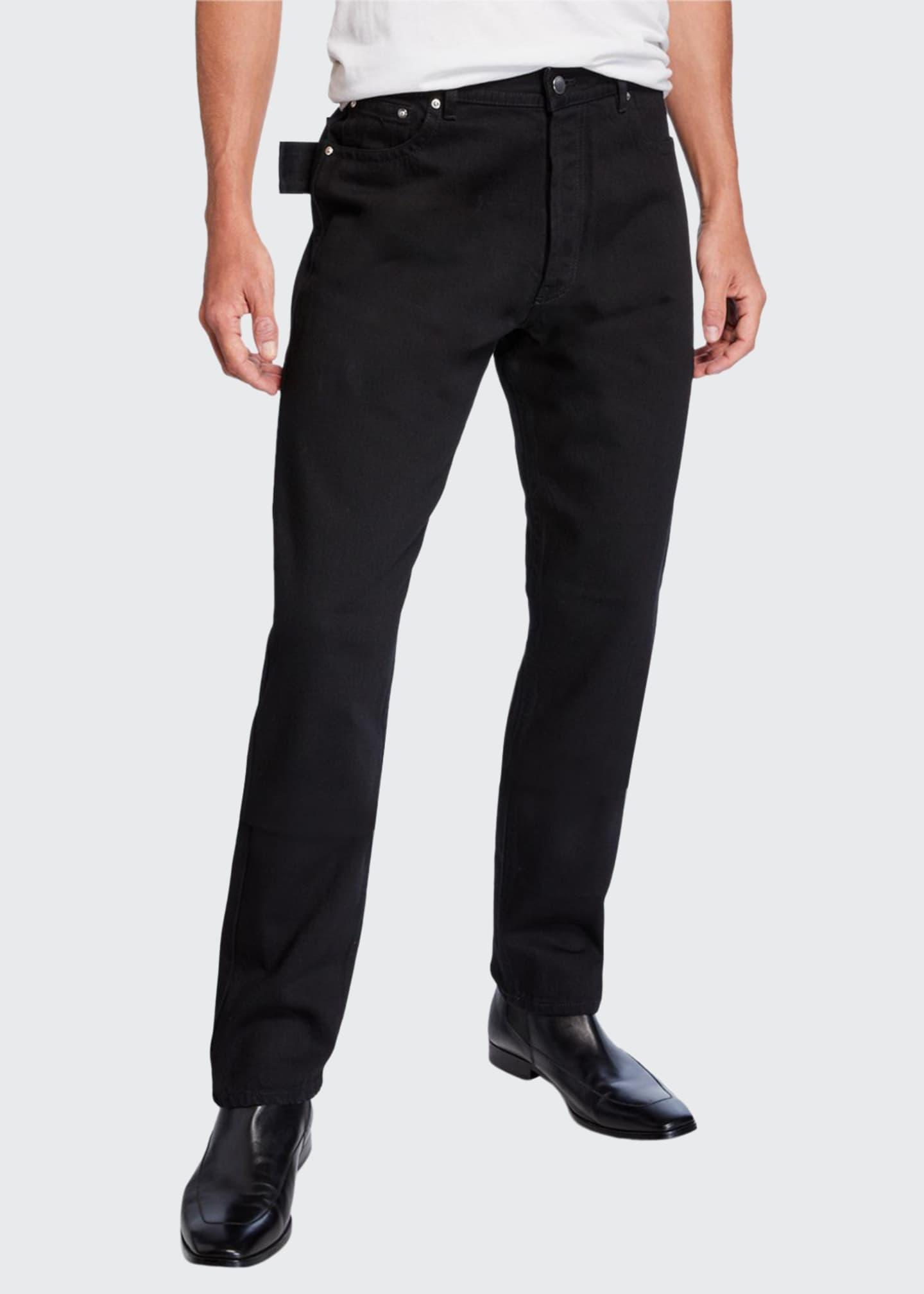 Bottega Veneta Men's Washed Denim Side-Loop Pants